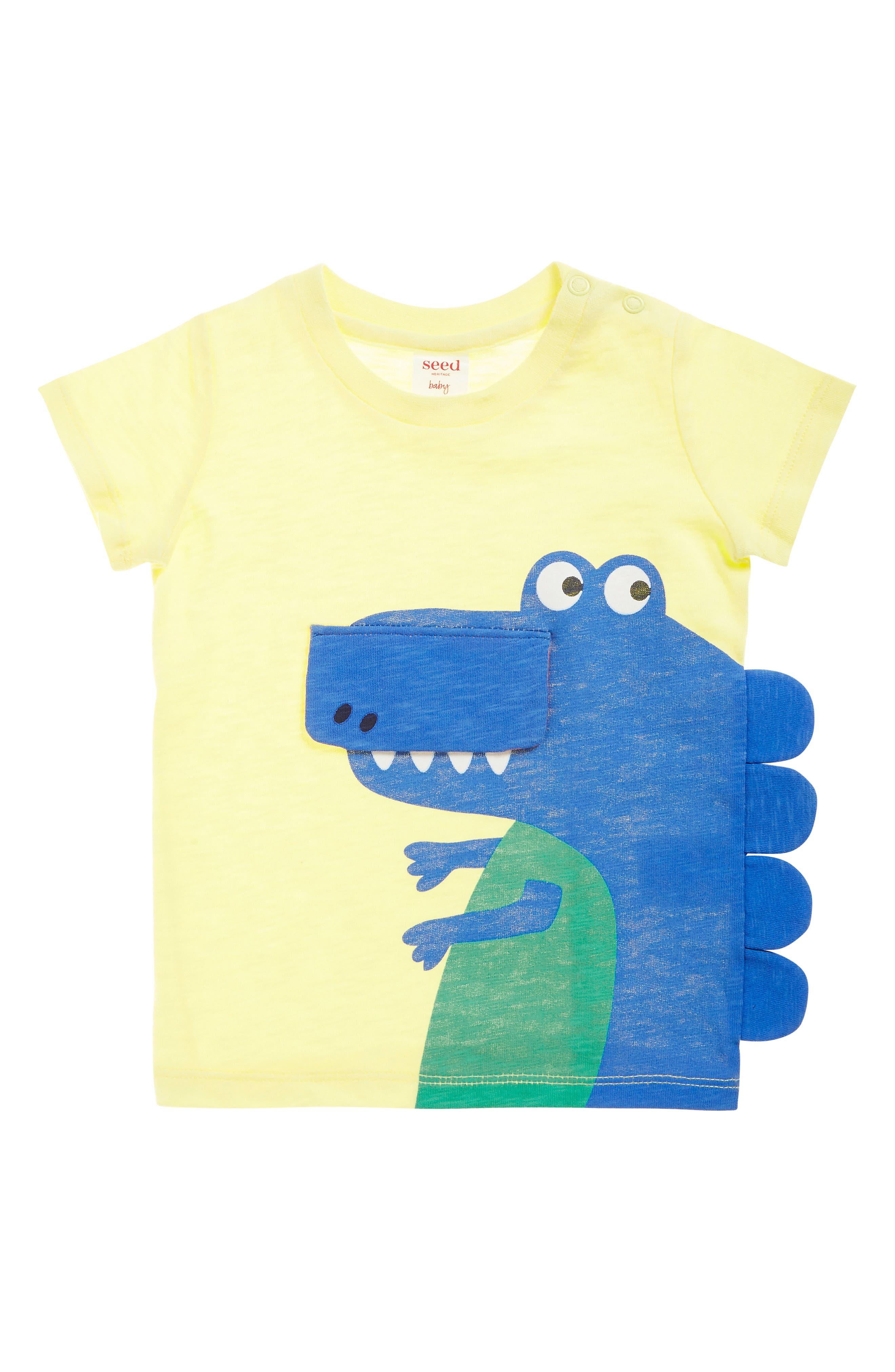 SEED HERITAGE, Dino Flip T-Shirt, Main thumbnail 1, color, 700