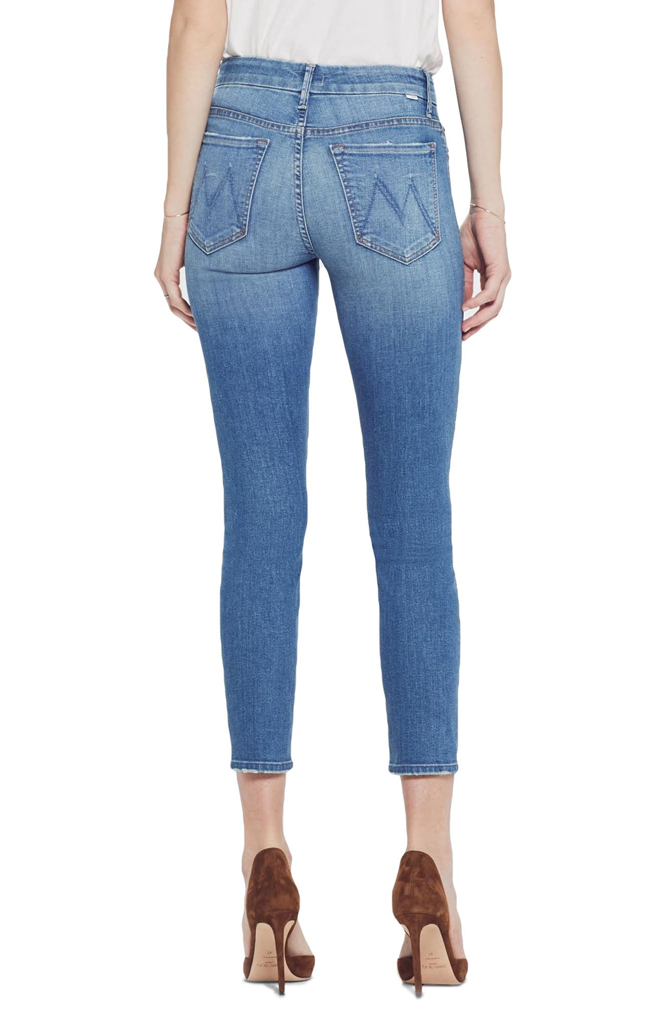 MOTHER, The Looker Crop Skinny Jeans, Alternate thumbnail 2, color, WISHFUL DRINKING