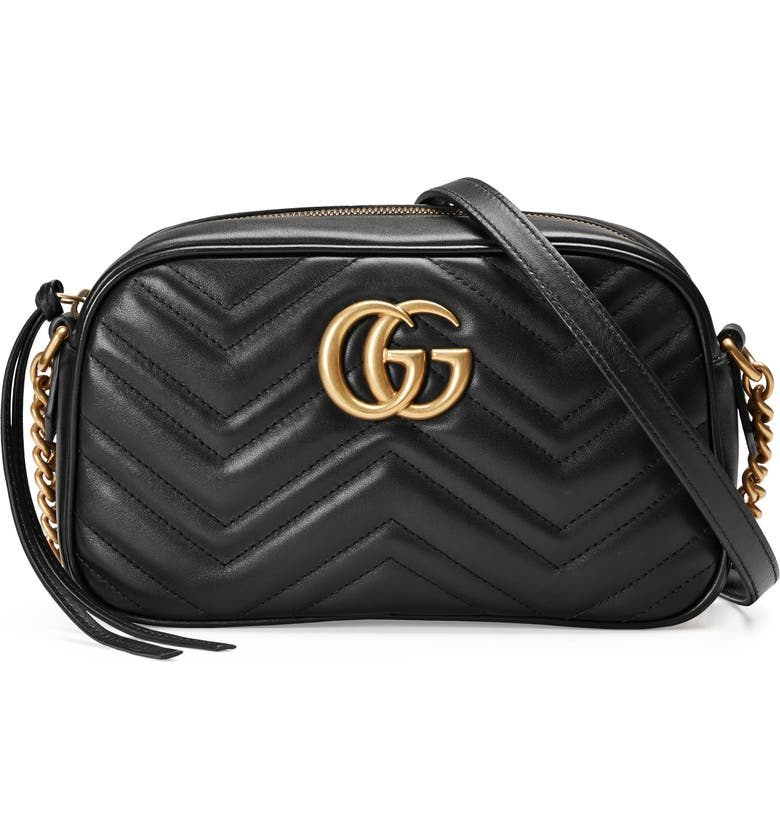 d921ed65143b GUCCI Small GG Marmont 2.0 Matelassé Leather Camera Bag, Main, color, NERO/