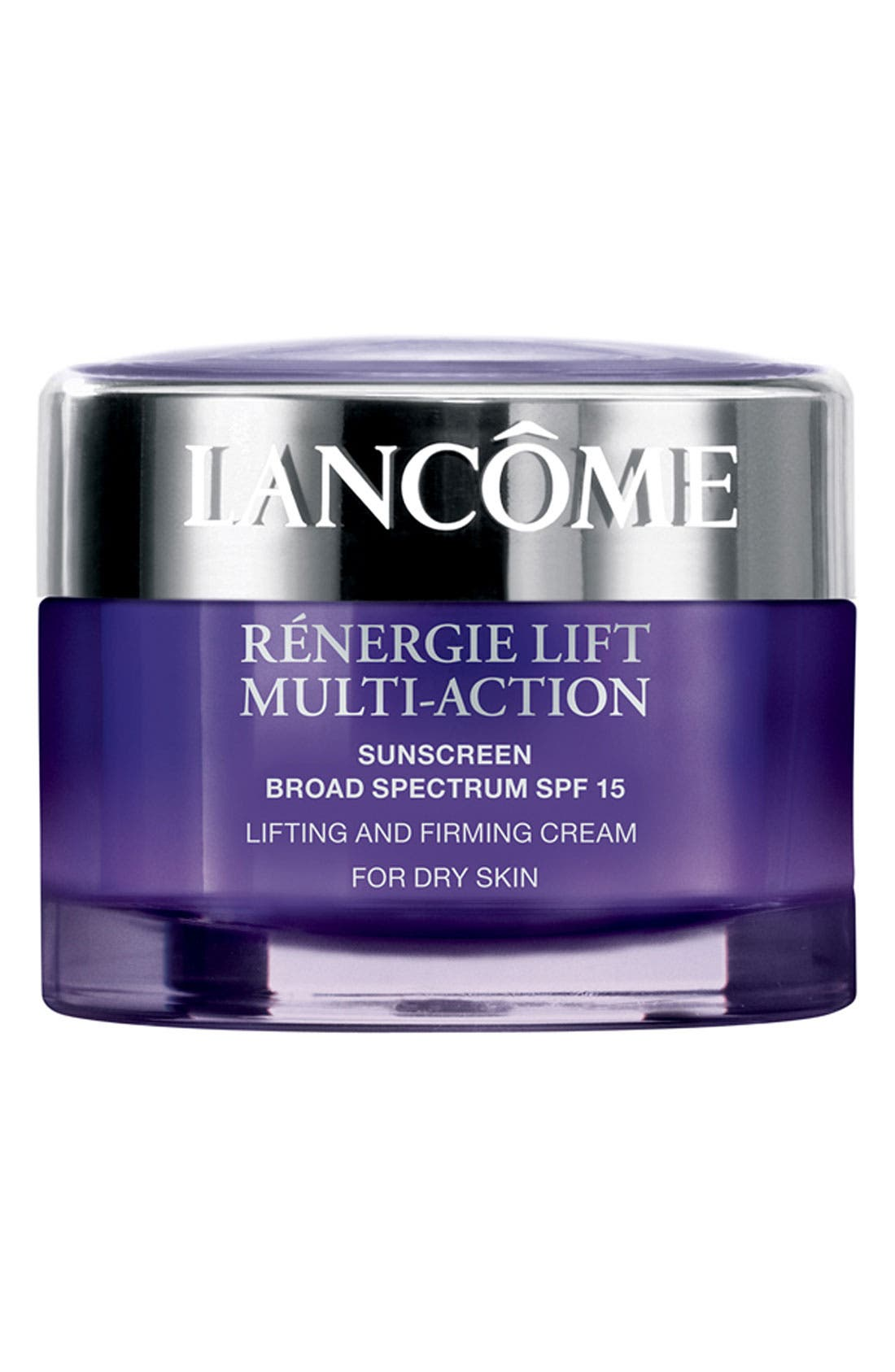 LANCÔME, Rénergie Lift Multi Action Moisturizer Cream SPF 15 for Dry Skin, Main thumbnail 1, color, NO COLOR