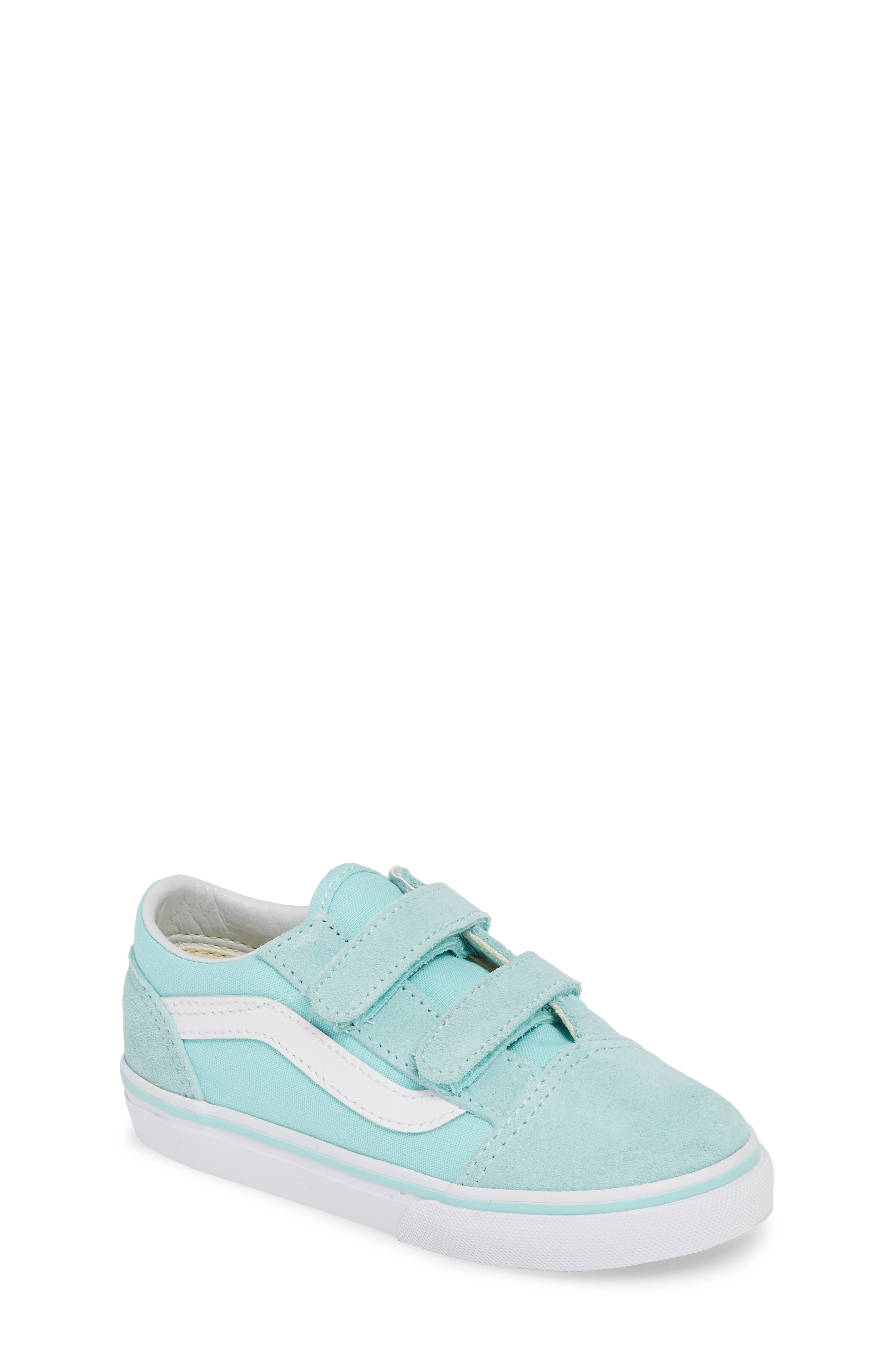 VANS, 'Old Skool V' Sneaker, Main thumbnail 1, color, BLUE TINT/ TRUE WHITE
