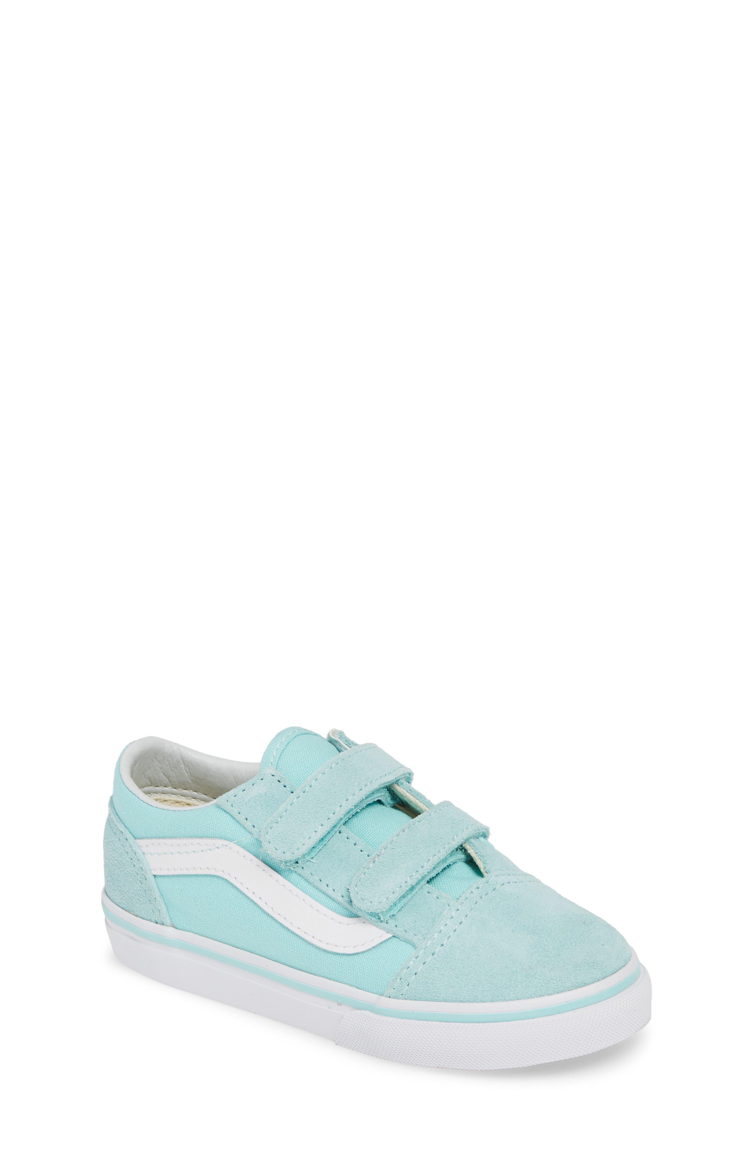 VANS 'Old Skool V' Sneaker, Main, color, BLUE TINT/ TRUE WHITE