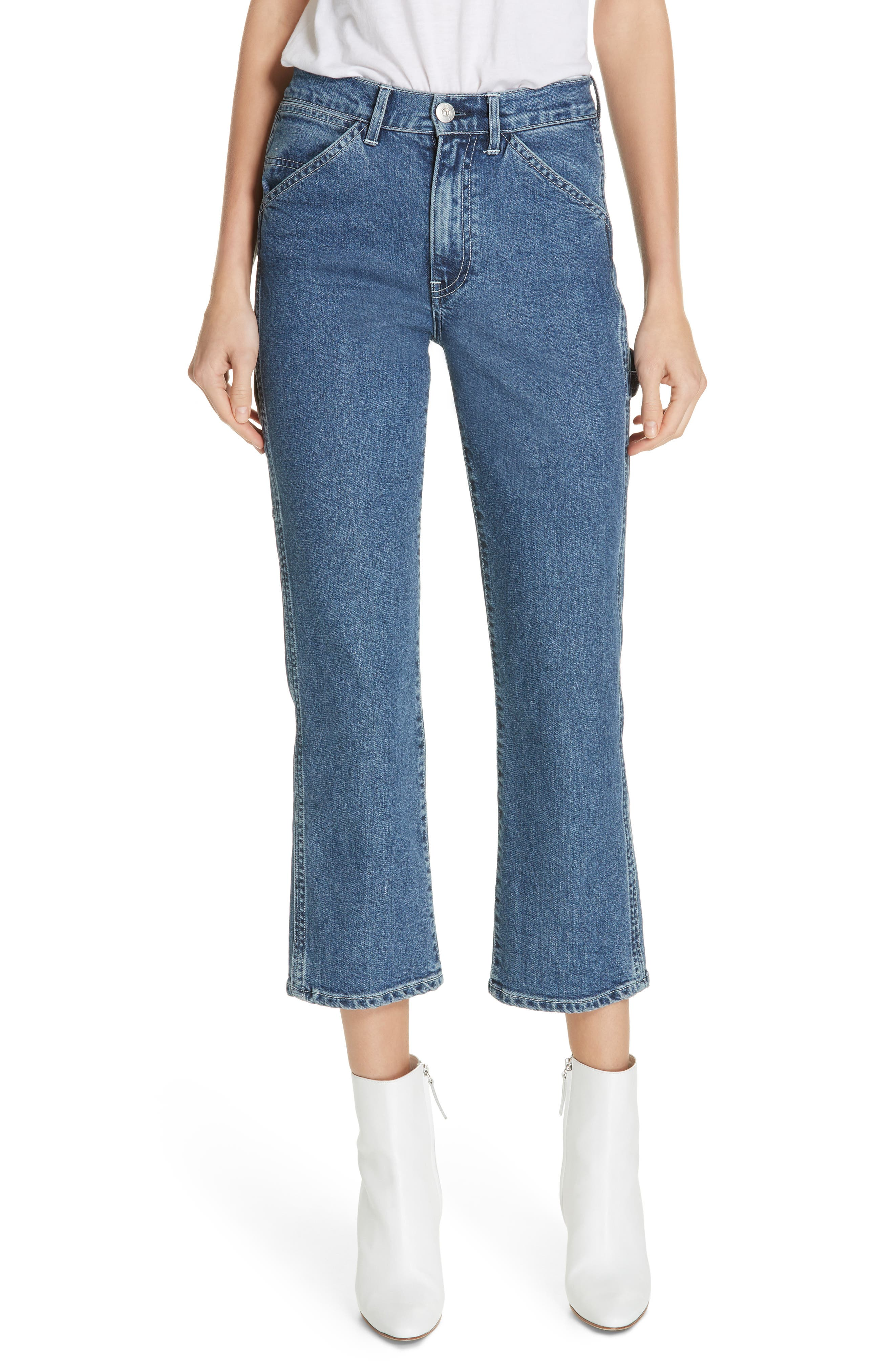 3X1 NYC Rose Ankle Carpenter Jeans, Main, color, HESTER