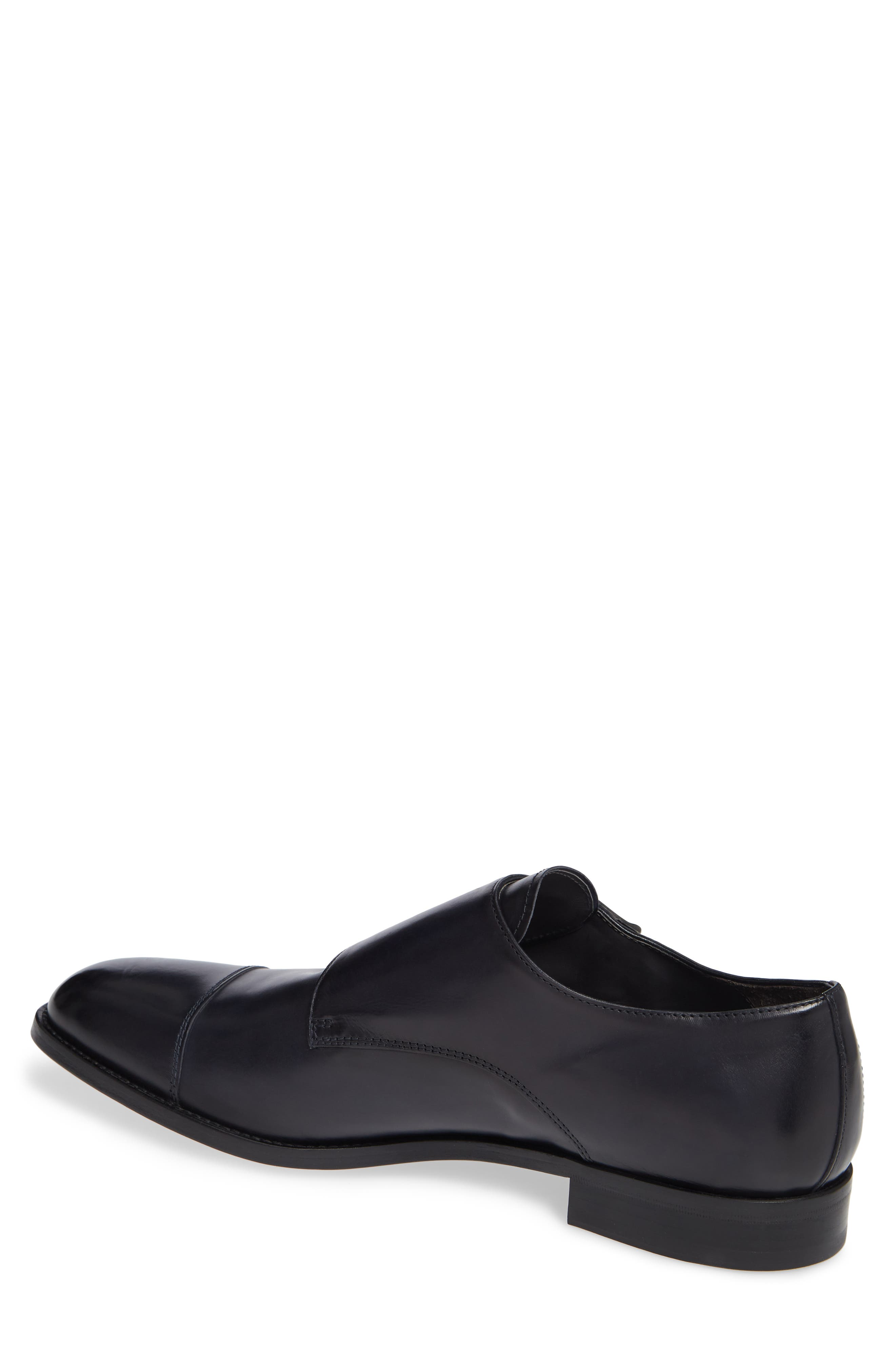 TO BOOT NEW YORK, Quentin Cap Toe Monk Shoe, Alternate thumbnail 2, color, BLUE MARINE LEATHER