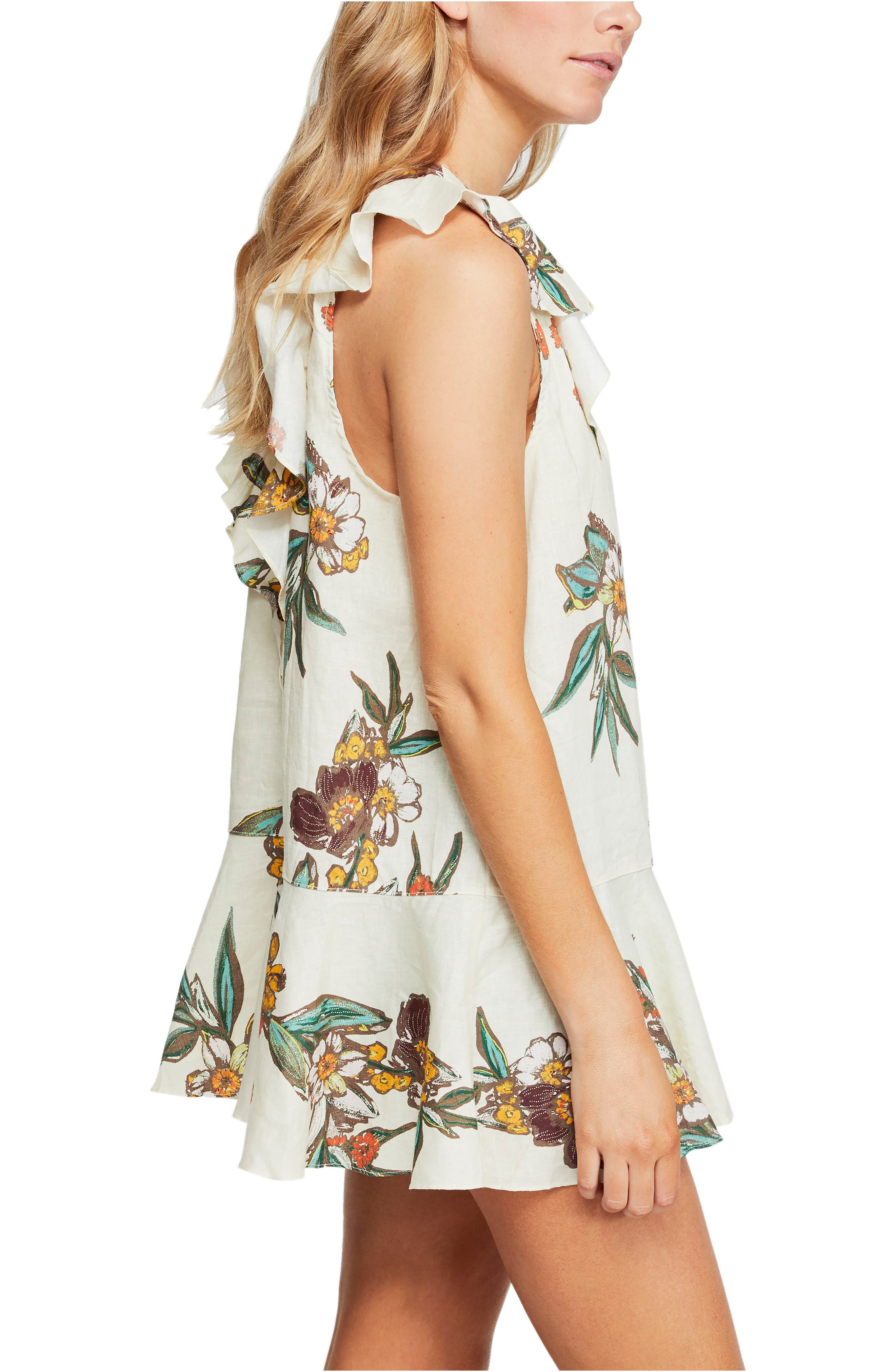 FREE PEOPLE, Summer in Tulum Tunic, Alternate thumbnail 3, color, IVORY