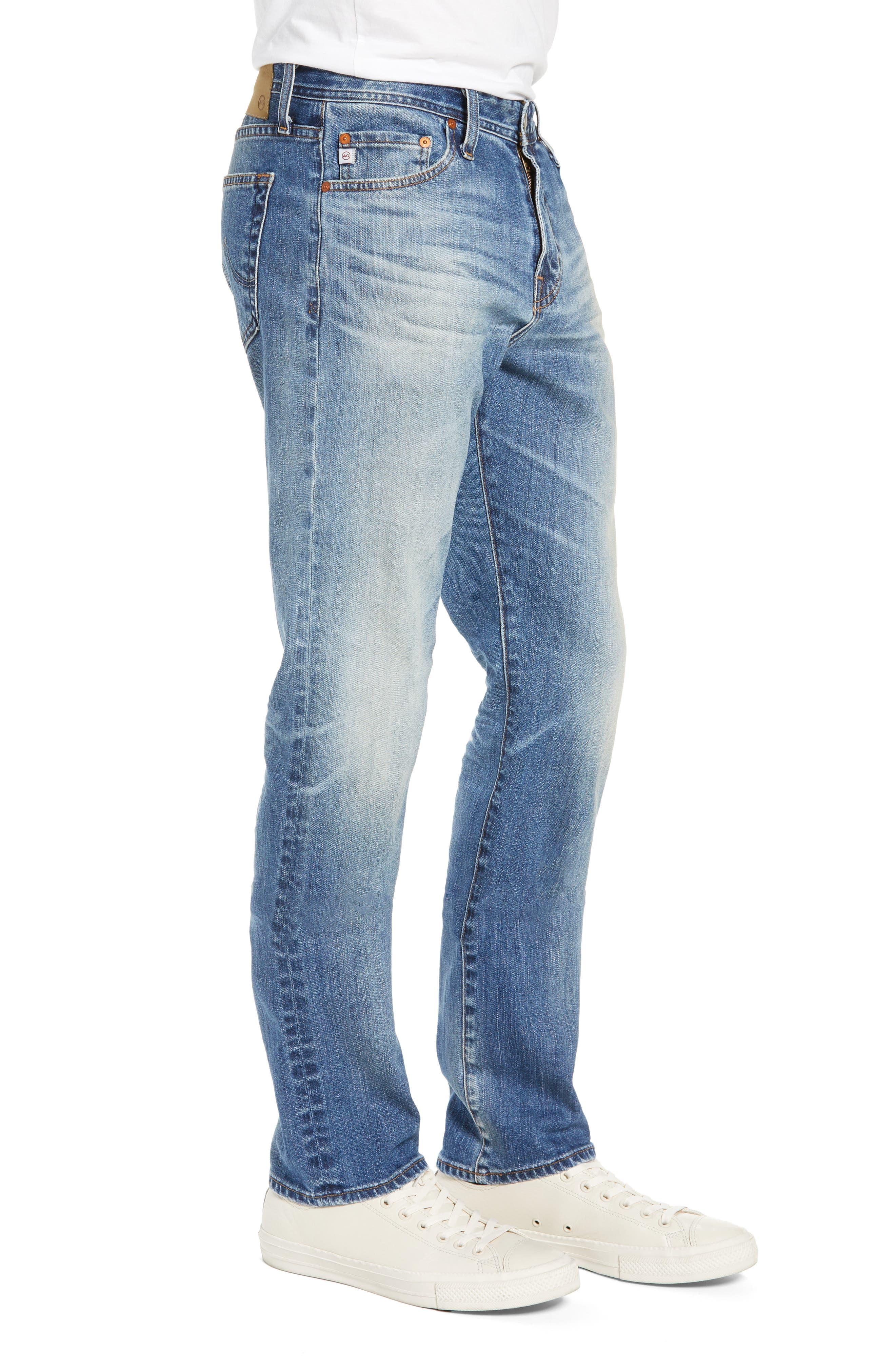 AG, Everett Slim Straight Leg Jeans, Alternate thumbnail 4, color, 21 YEARS SEIZE