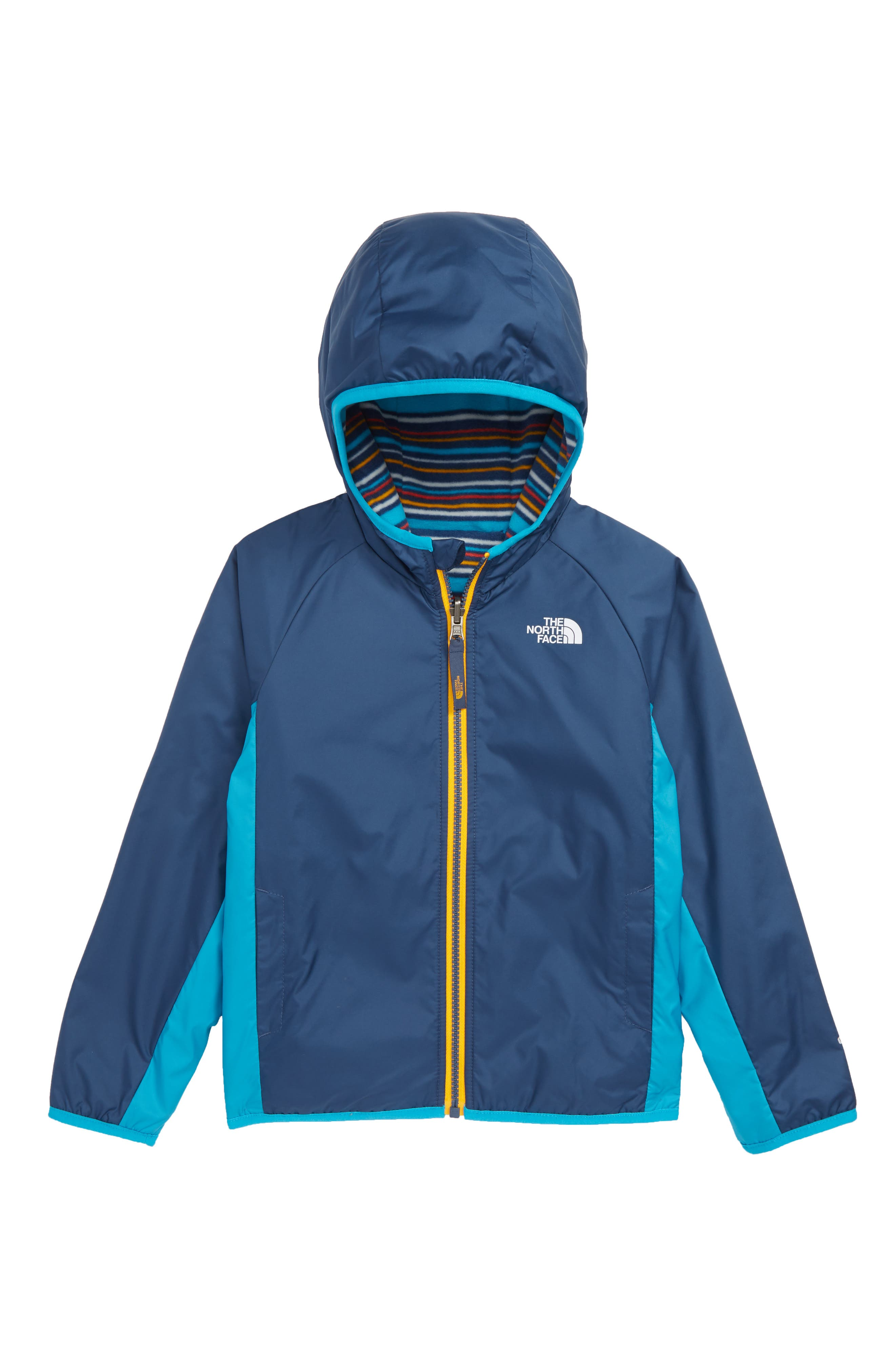 THE NORTH FACE, Breezeway Reversible Water Repellent Jacket, Main thumbnail 1, color, SHADY BLUE