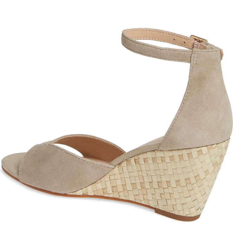 5d040588e4d Seychelles Dual Purpose Wedge Ankle Strap Sandal In Taupe Suede ...