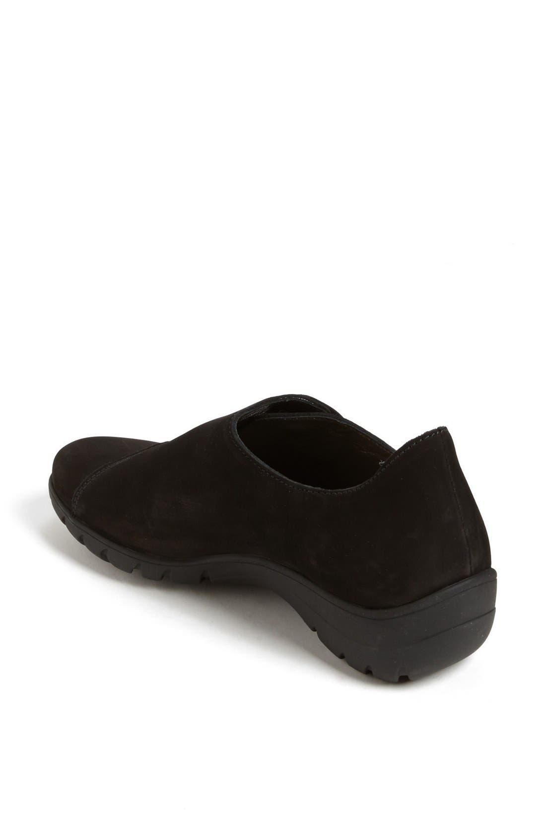 MEPHISTO, 'Luce' Sneaker, Alternate thumbnail 2, color, BLACK BUCKSOFT