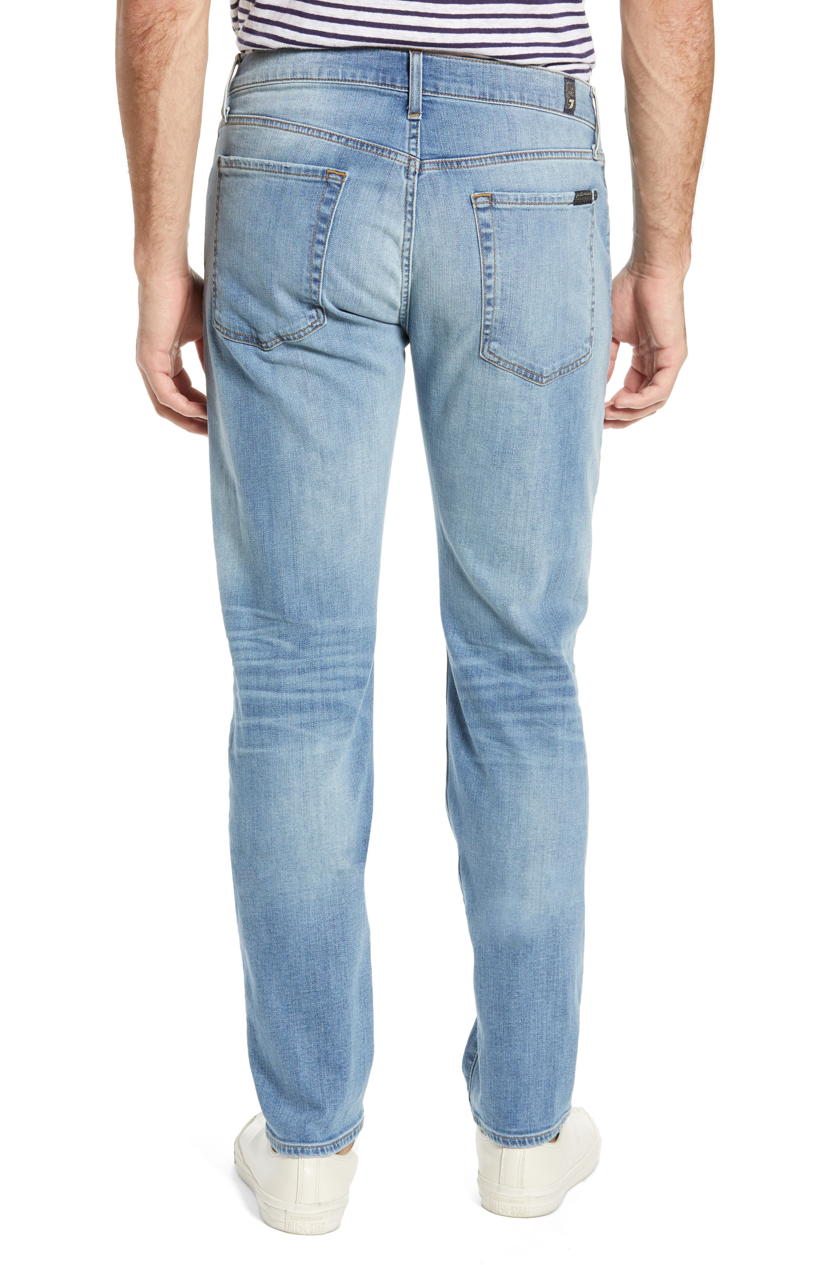 7 FOR ALL MANKIND<SUP>®</SUP>, Adrien Luxe Performance Slim Fit Jeans, Alternate thumbnail 2, color, ZEITGEIST