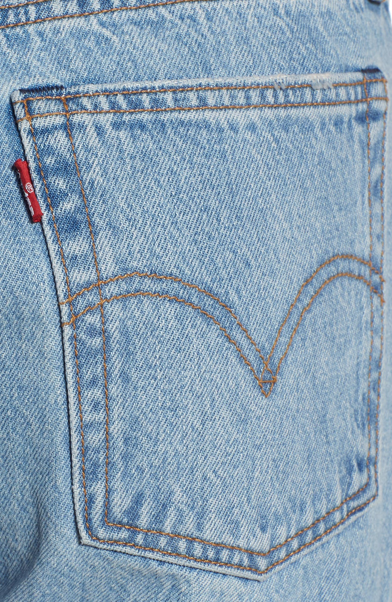 LEVI'S<SUP>®</SUP>, Wedgie Ripped Straight Leg Jeans, Alternate thumbnail 5, color, AUTHENTICALLY YOURS