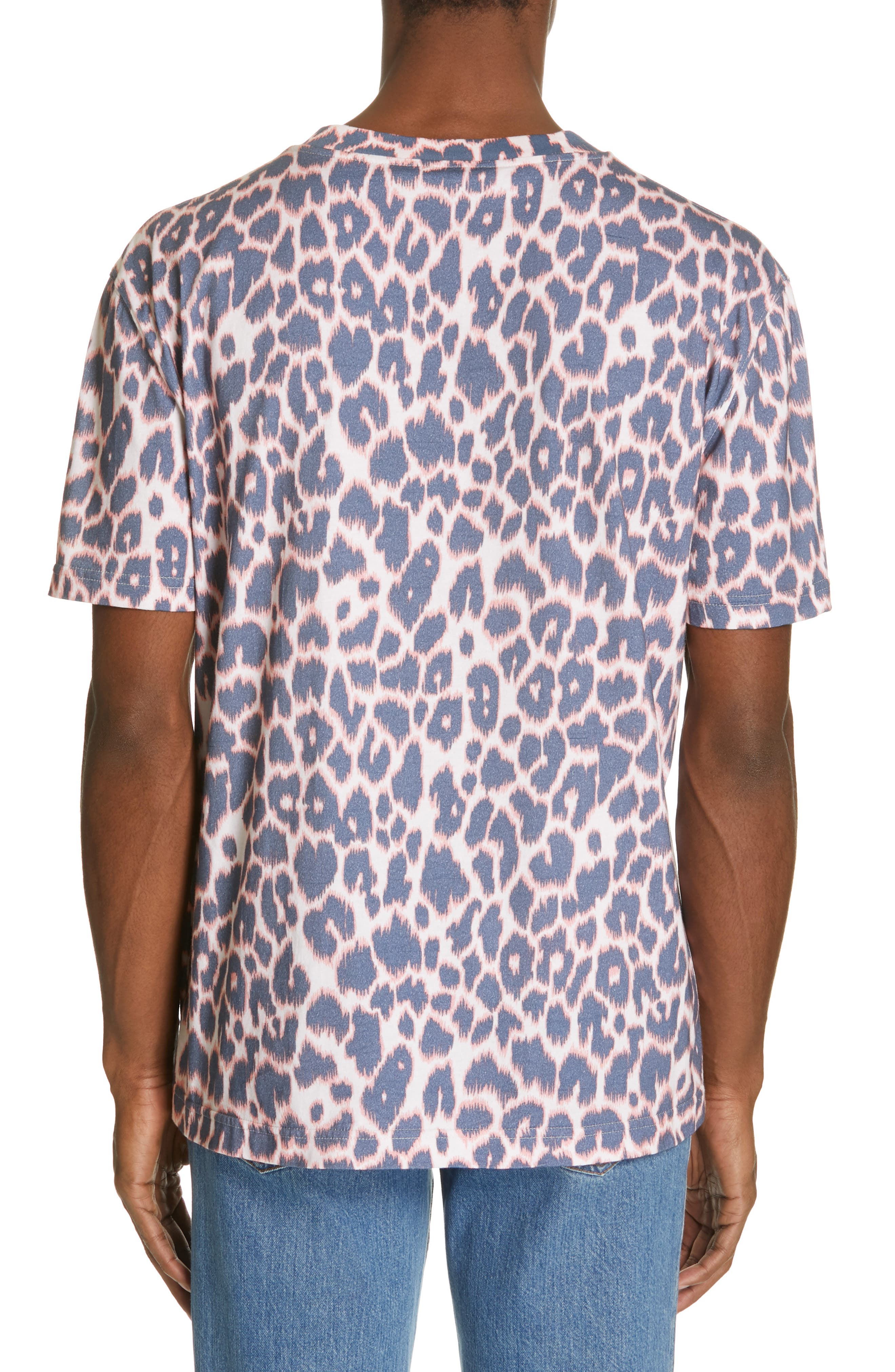 CALVIN KLEIN 205W39NYC, Electric Panther Print T-Shirt, Alternate thumbnail 2, color, ELECTRIC PANTHERE