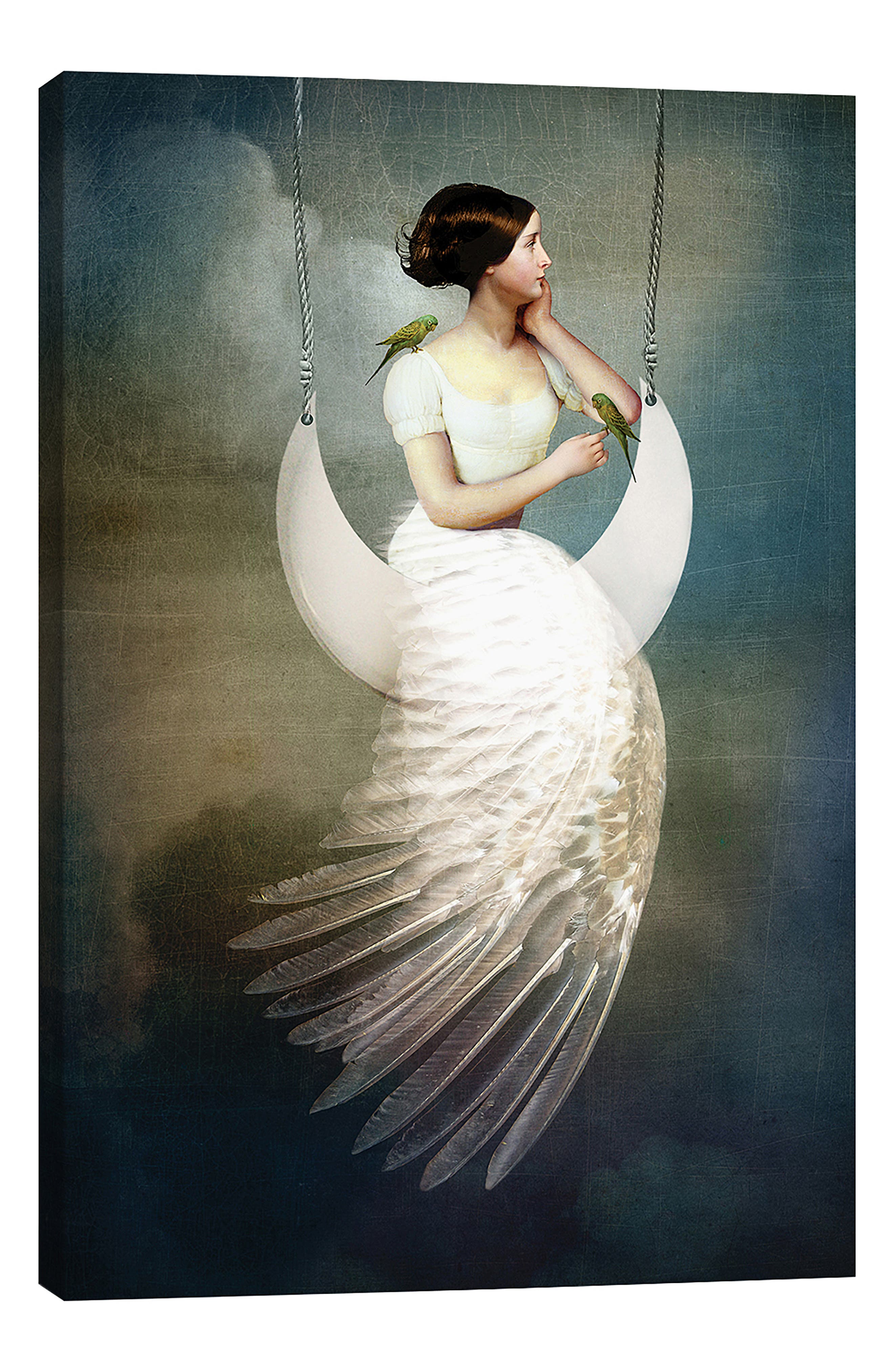 ICANVAS, To the Moon & Back by Catrin Welz-Stein Giclée Print Canvas Art, Main thumbnail 1, color, GREEN