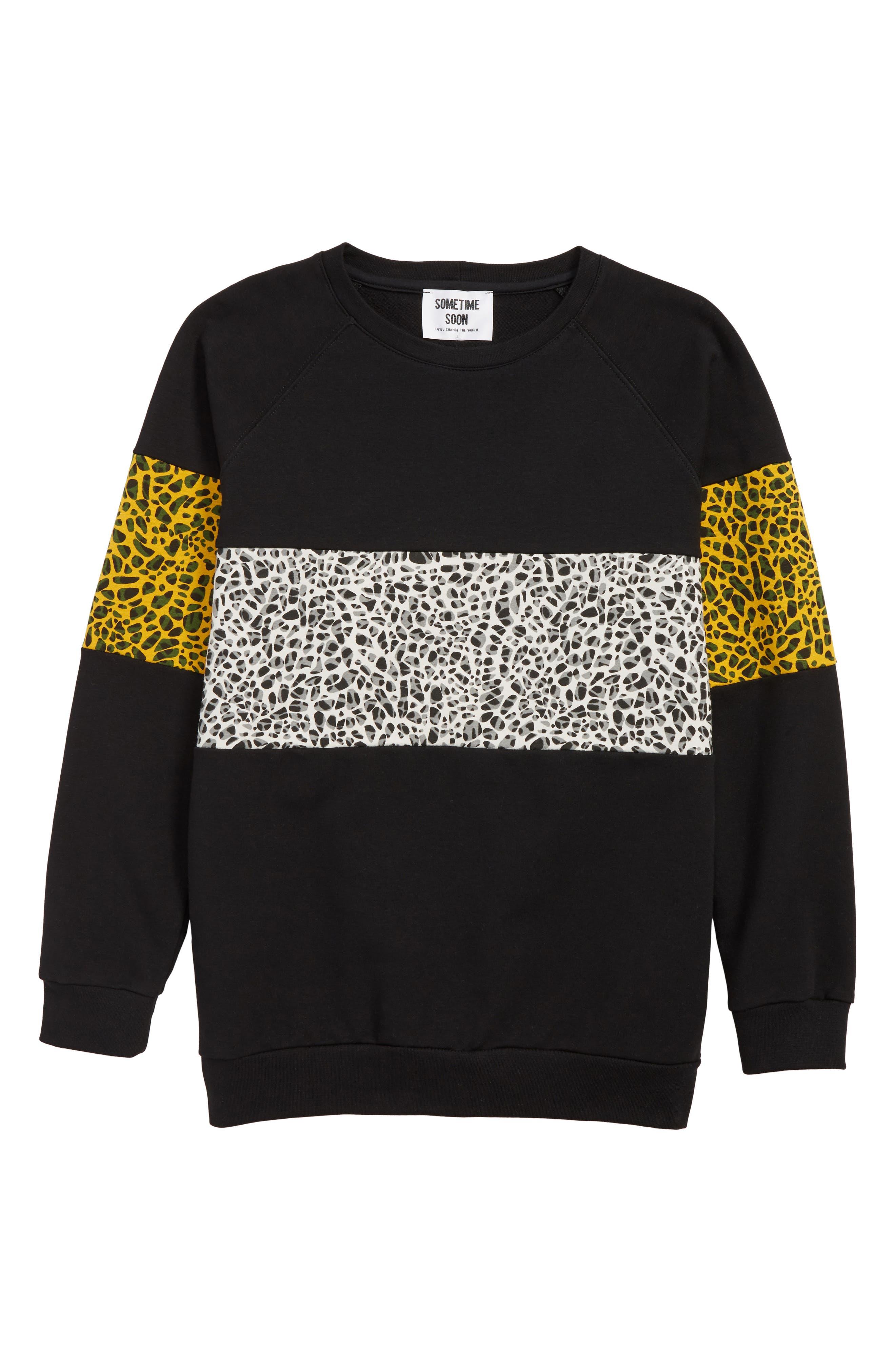 SOMETIME SOON, Delano Organic Cotton Sweatshirt, Main thumbnail 1, color, BLACK