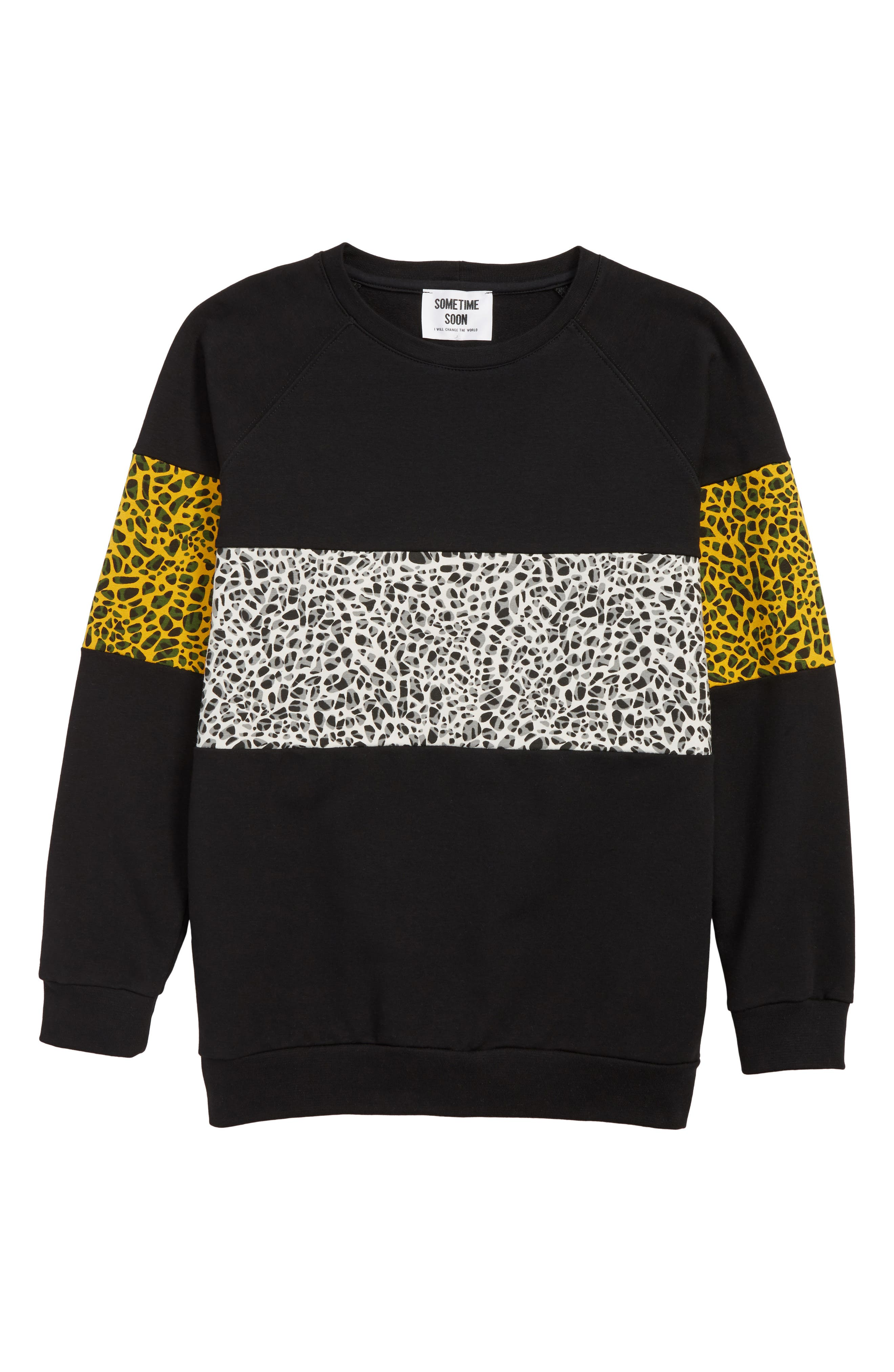 SOMETIME SOON Delano Organic Cotton Sweatshirt, Main, color, BLACK