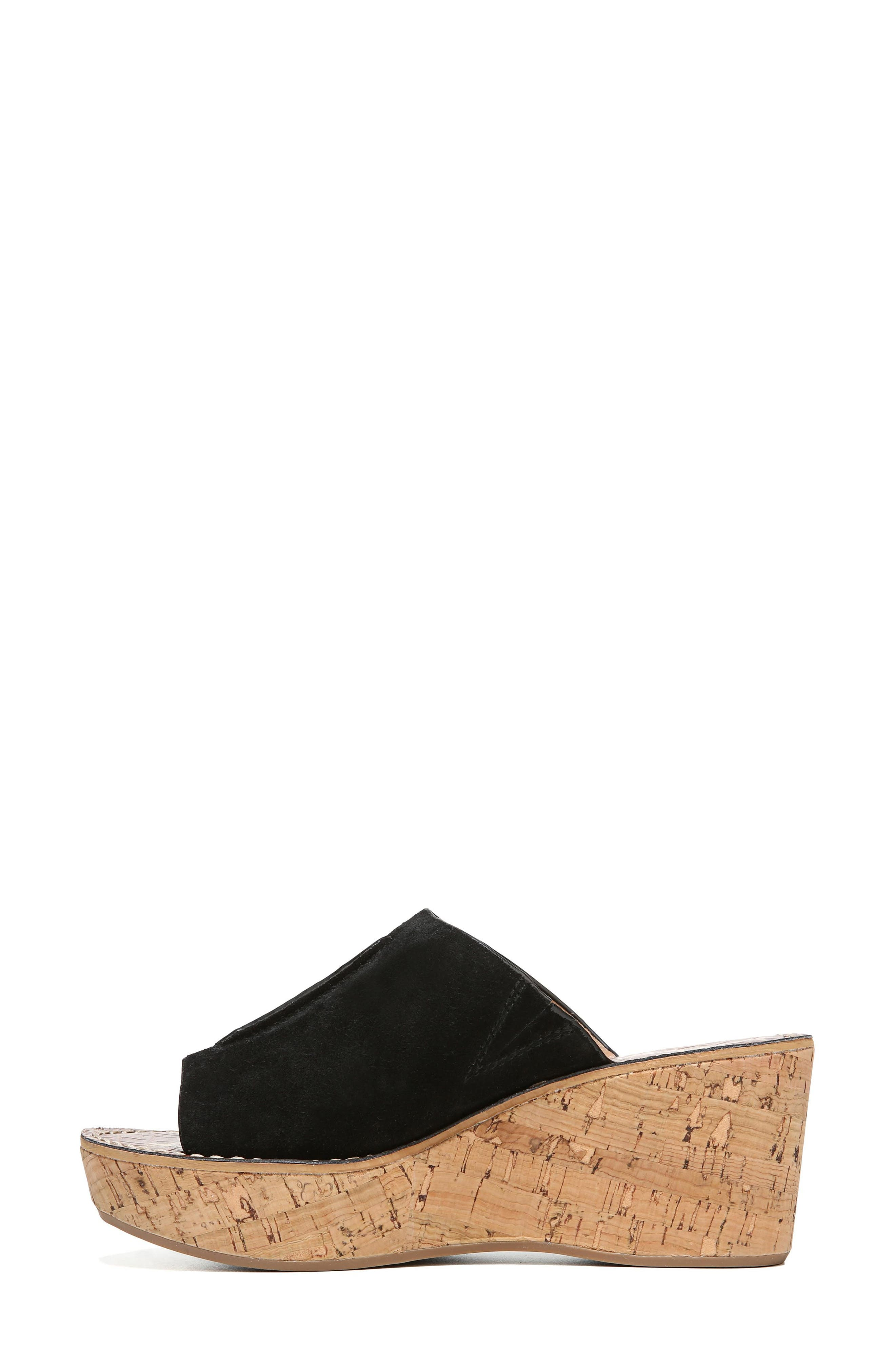 SAM EDELMAN, Ranger Platform Sandal, Alternate thumbnail 3, color, BLACK SUEDE