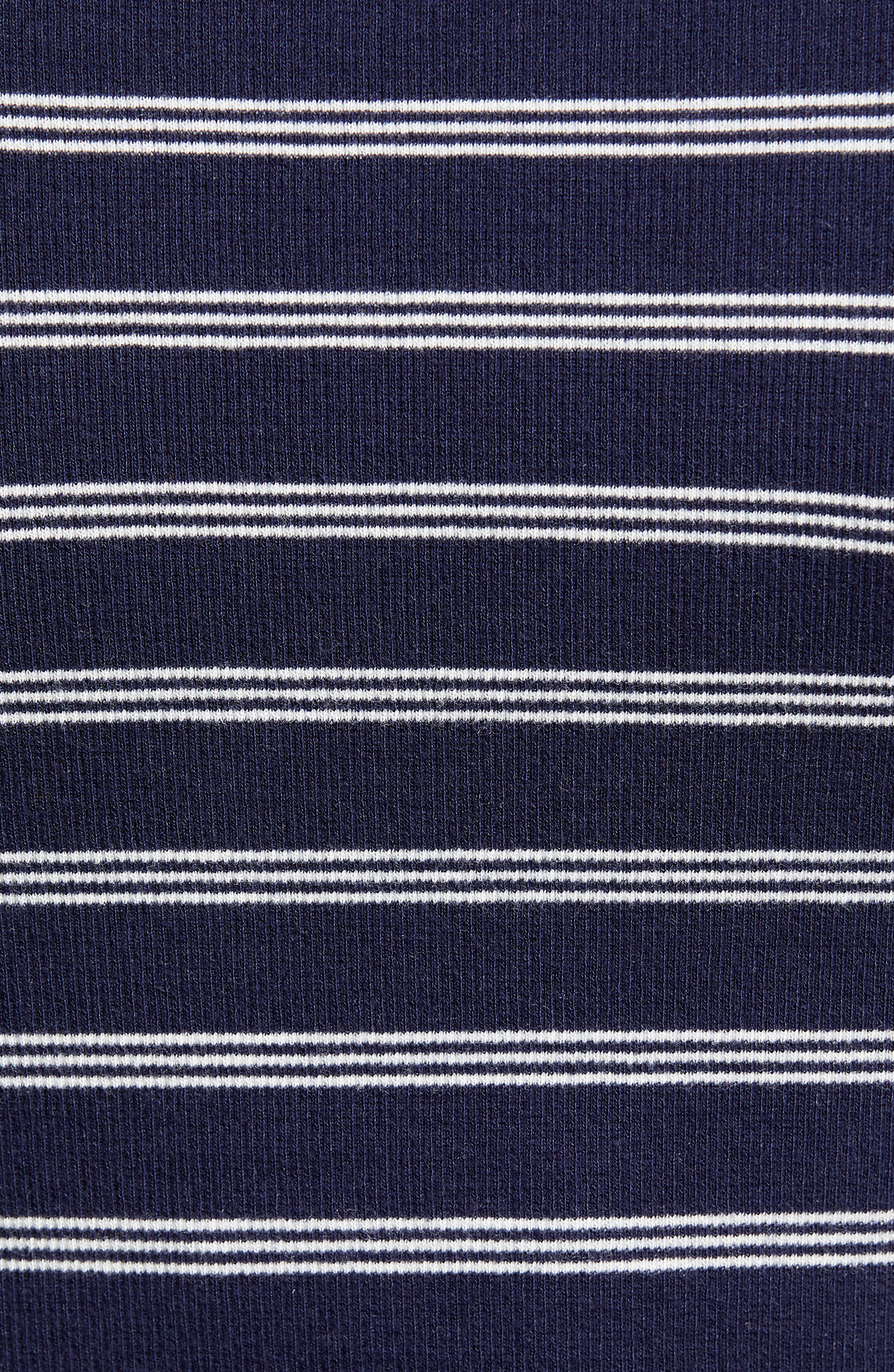 BP., Ribbed Henley Tee, Alternate thumbnail 6, color, NAVY EVENING NANTUCKET STRIPE