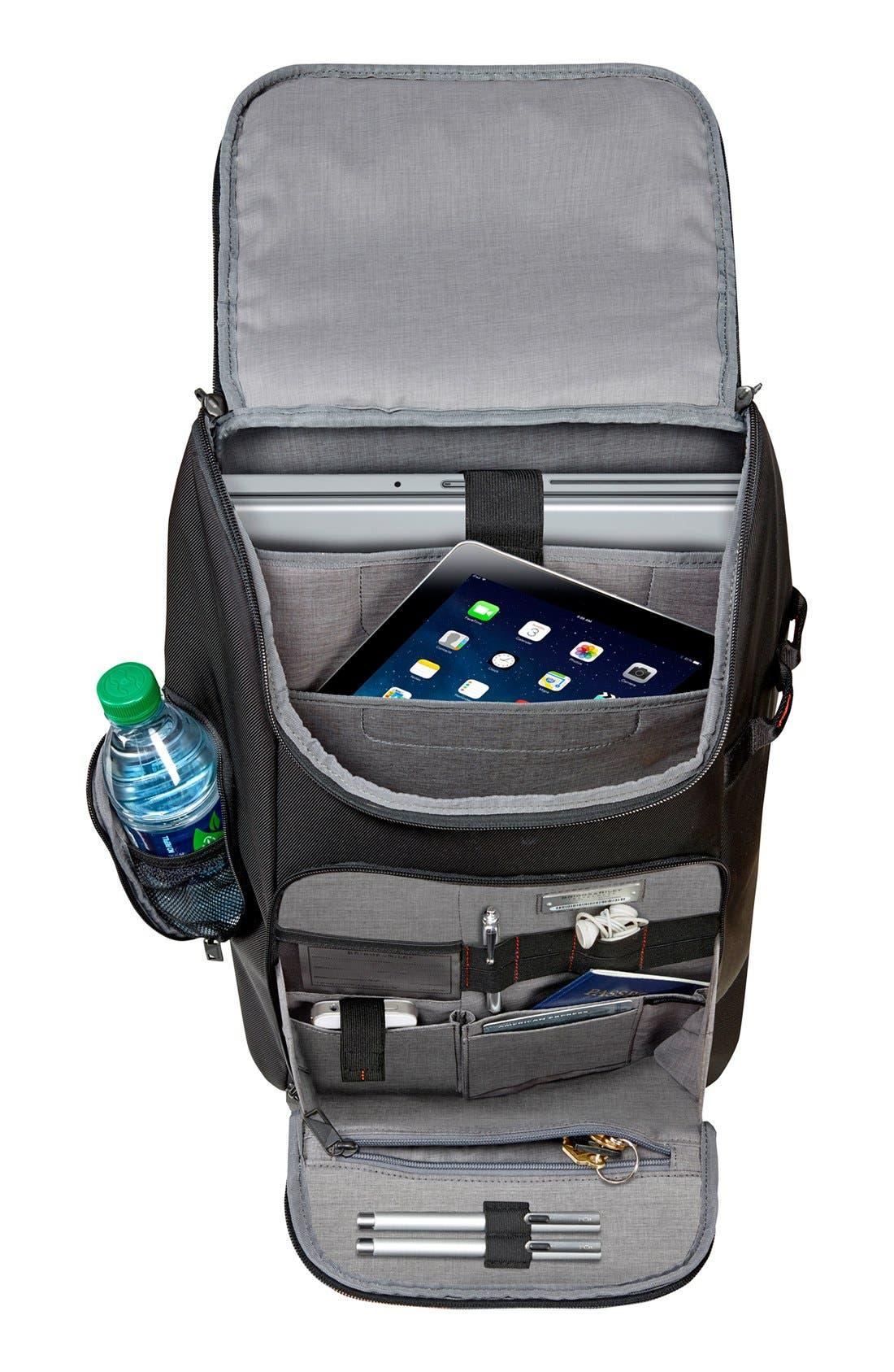 BRIGGS & RILEY, Verb - Advance Water & Wear Resistant Ballistic Nylon Backpack, Alternate thumbnail 2, color, BLACK