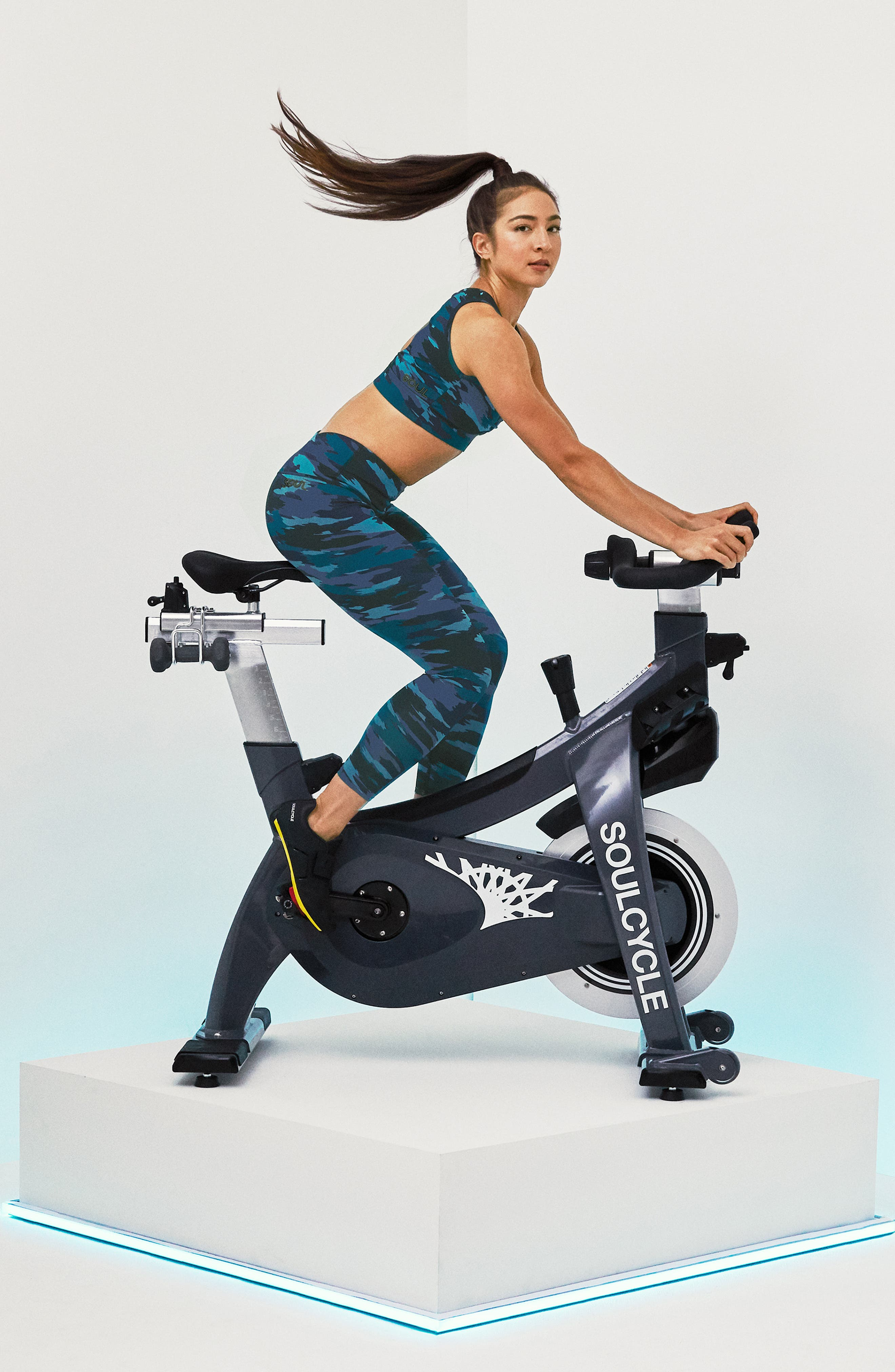 SOUL BY SOULCYCLE, High Waist Camo Tights, Alternate thumbnail 11, color, CAMO