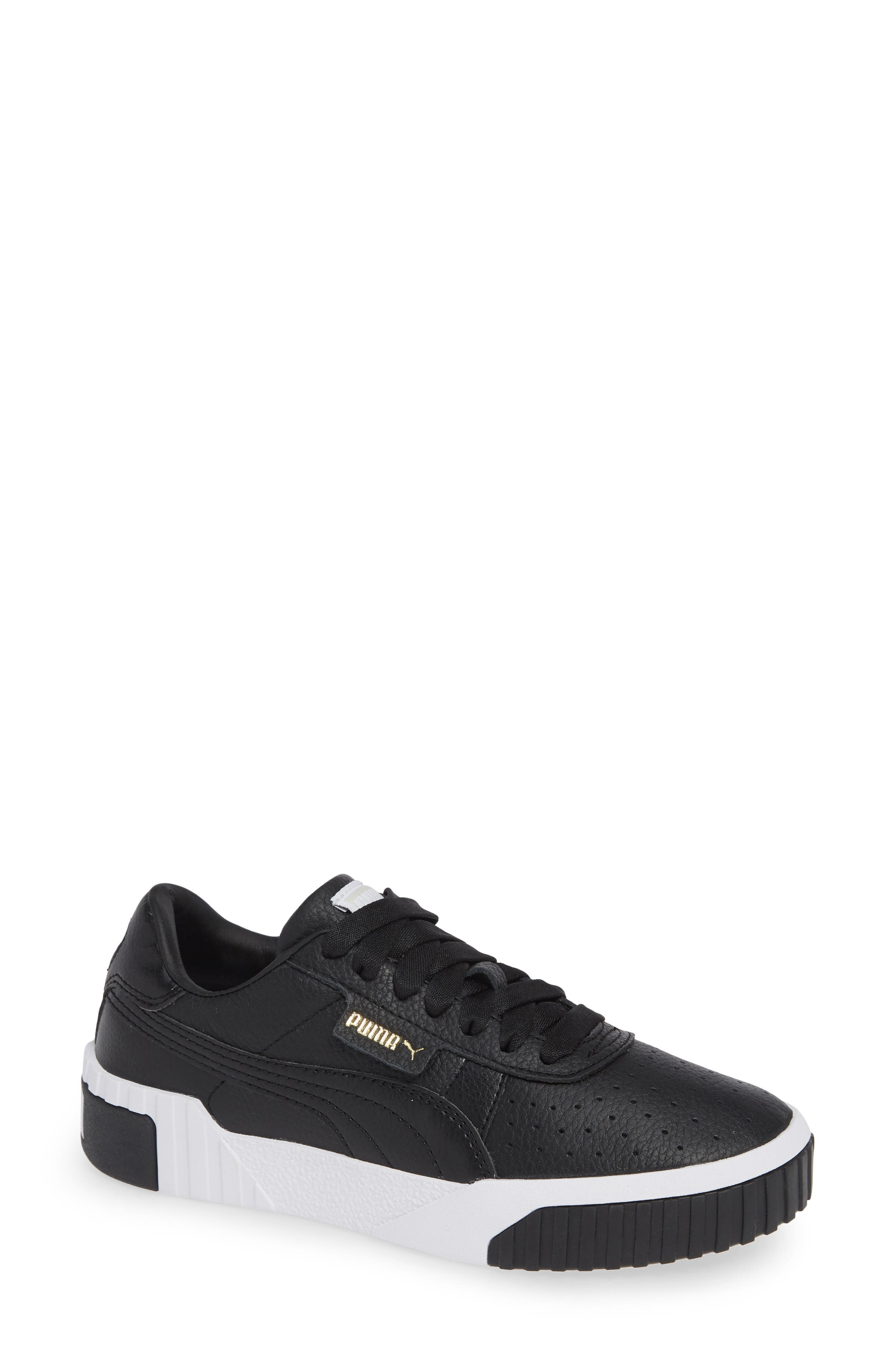 PUMA, Cali Sneaker, Main thumbnail 1, color, PUMA BLACK/ PUMA WHITE