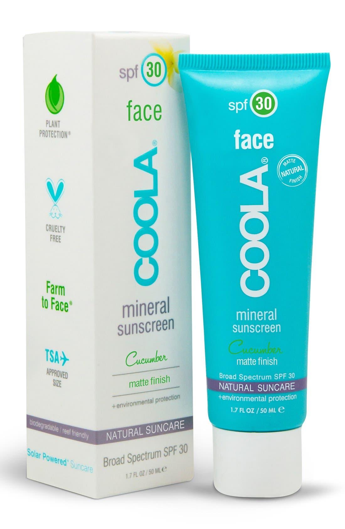 COOLA SUNCARE, COOLA<sup>®</sup> Suncare Cucumber Face Mineral Sunscreen SPF 30, Alternate thumbnail 2, color, NO COLOR