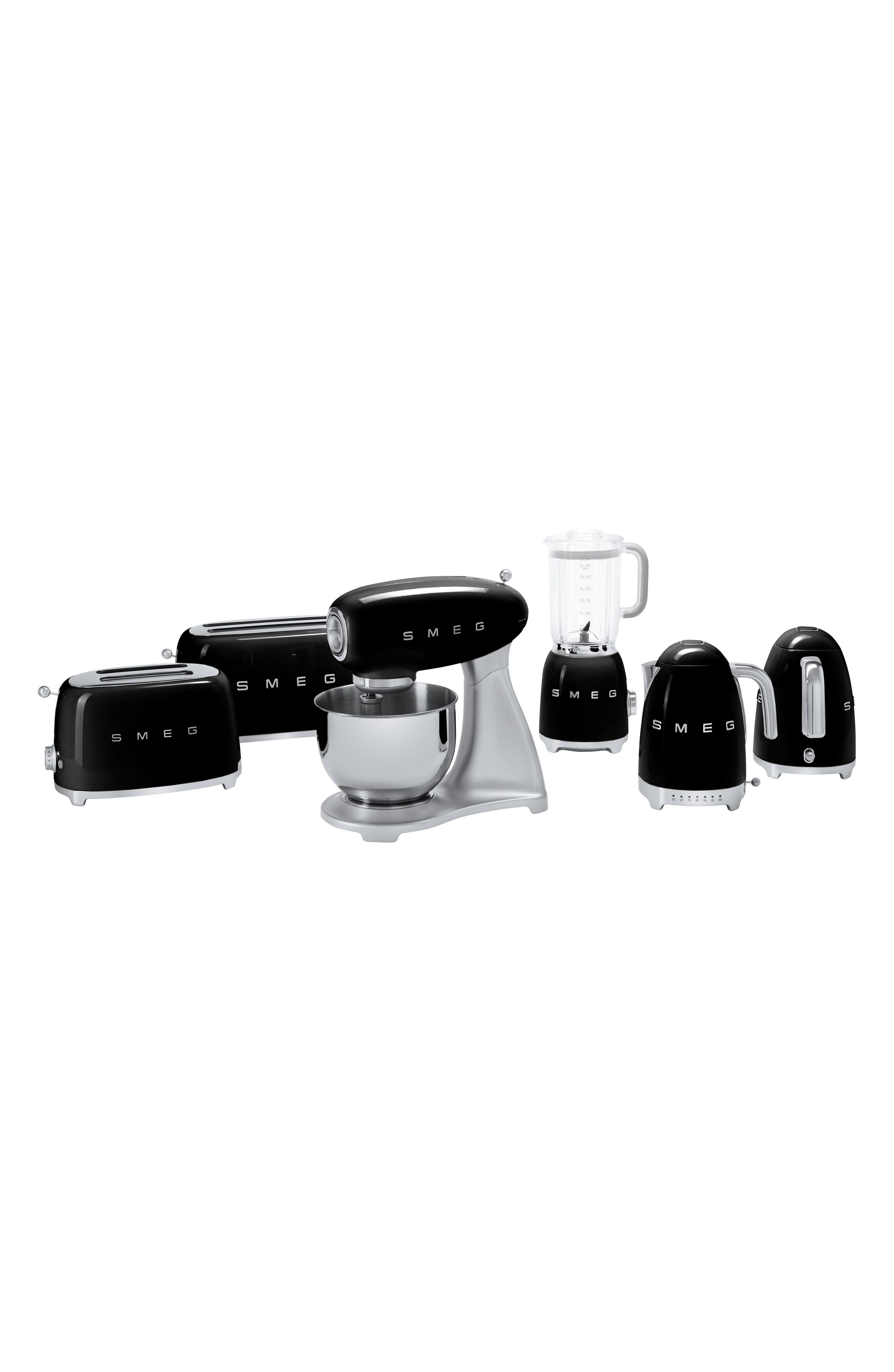SMEG, 50s Retro Style Two-Slice Toaster, Alternate thumbnail 4, color, BLACK