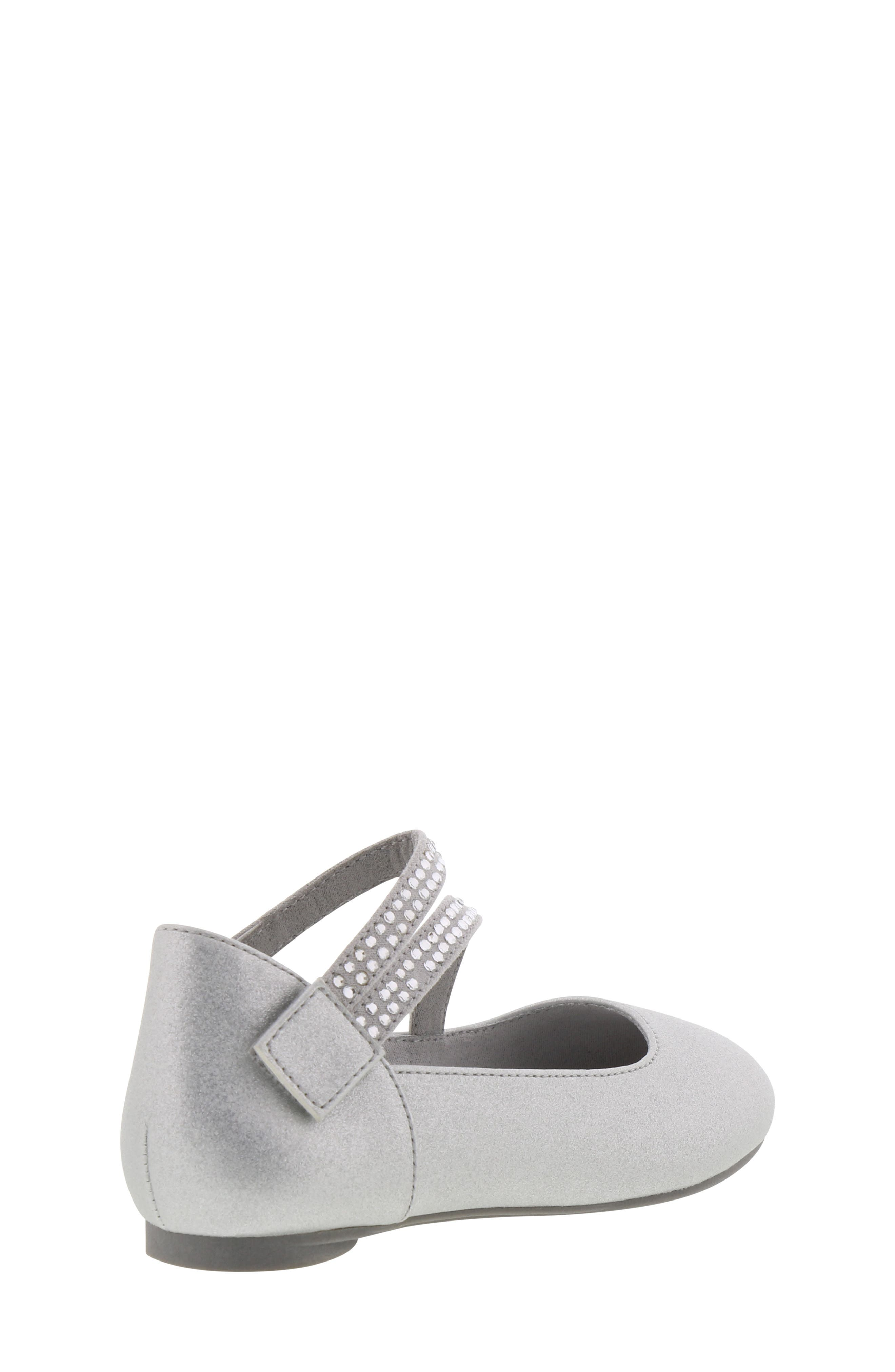 REACTION KENNETH COLE, Tap Lily-T Embellished Flat, Alternate thumbnail 2, color, SILVER