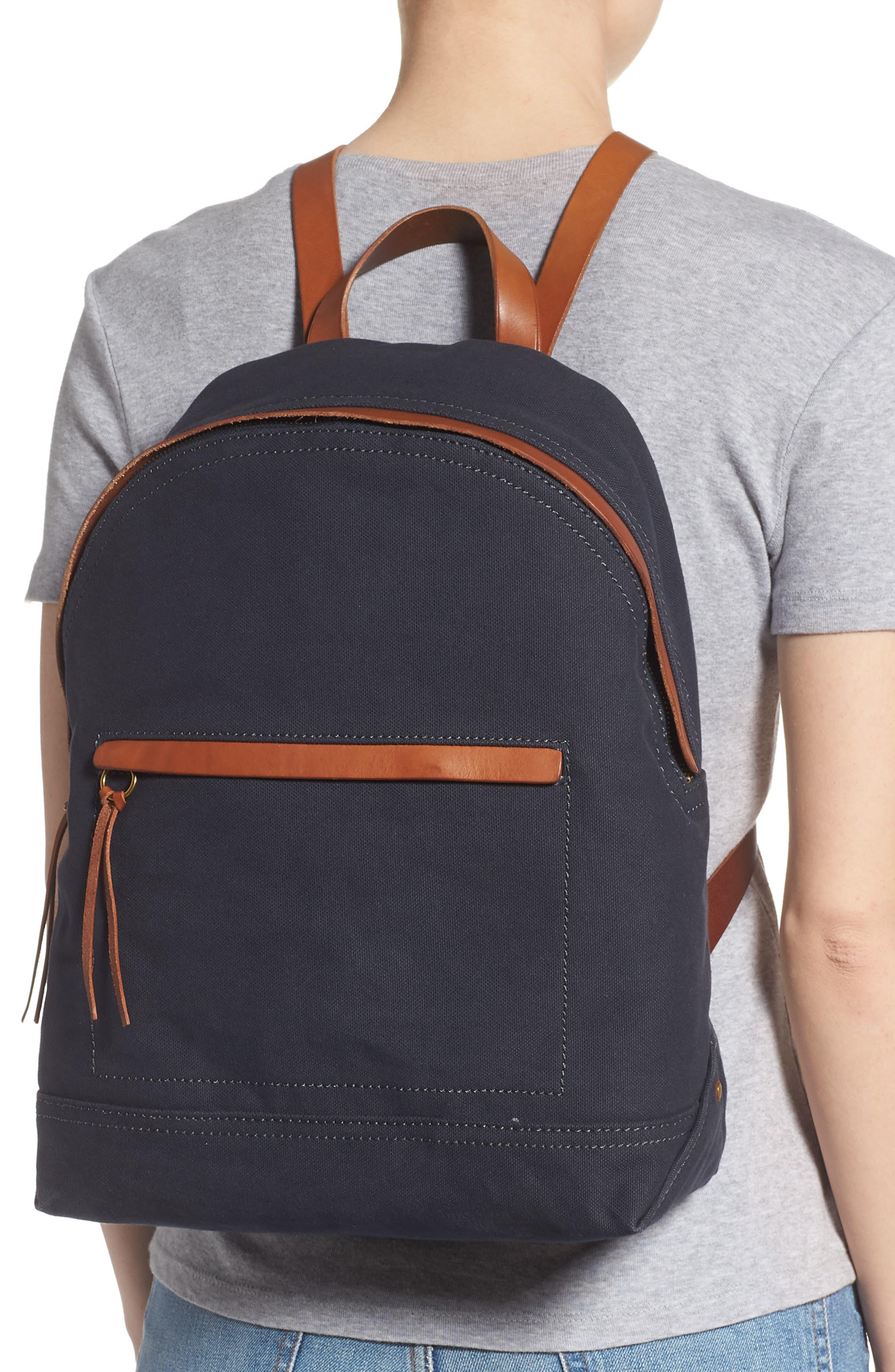 MADEWELL, The Charleston Backpack, Alternate thumbnail 2, color, BLACK SEA