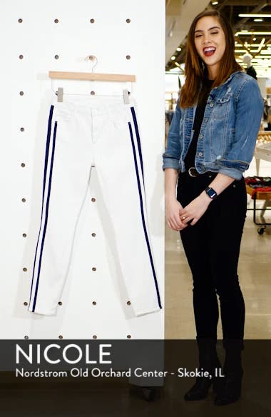 The Looker Stripe Ankle Skinny Jeans, sales video thumbnail