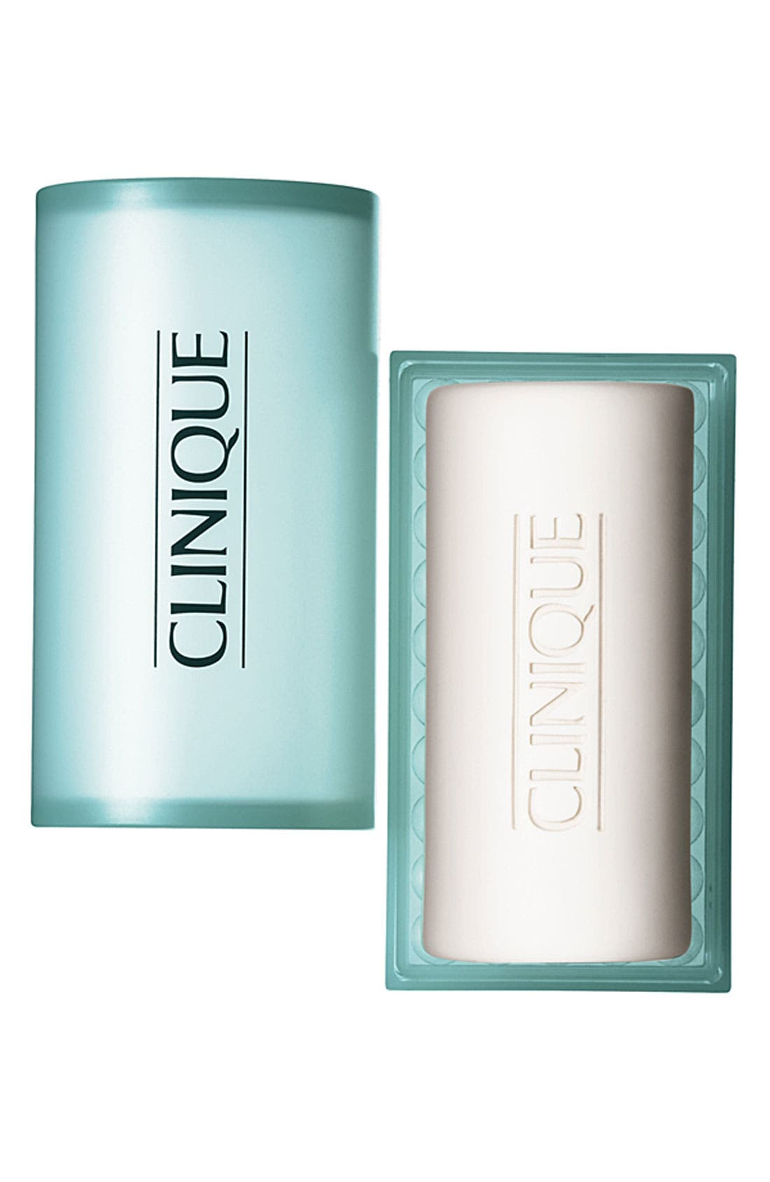 CLINIQUE, Acne Solutions Cleansing Bar for Face & Body with Dish, Main thumbnail 1, color, NO COLOR