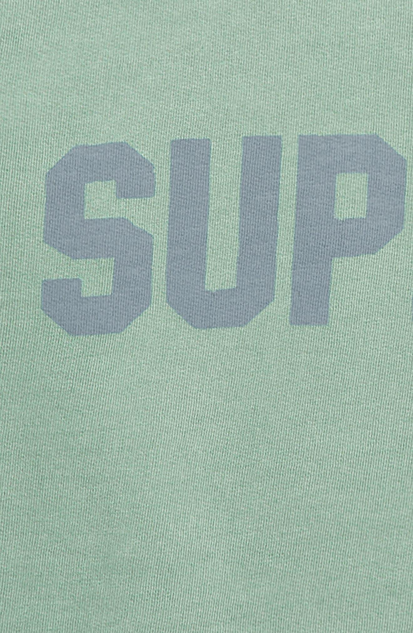 TREASURE & BOND, Washed Wide Sleeve Sweatshirt, Alternate thumbnail 2, color, GREEN WING SUPER