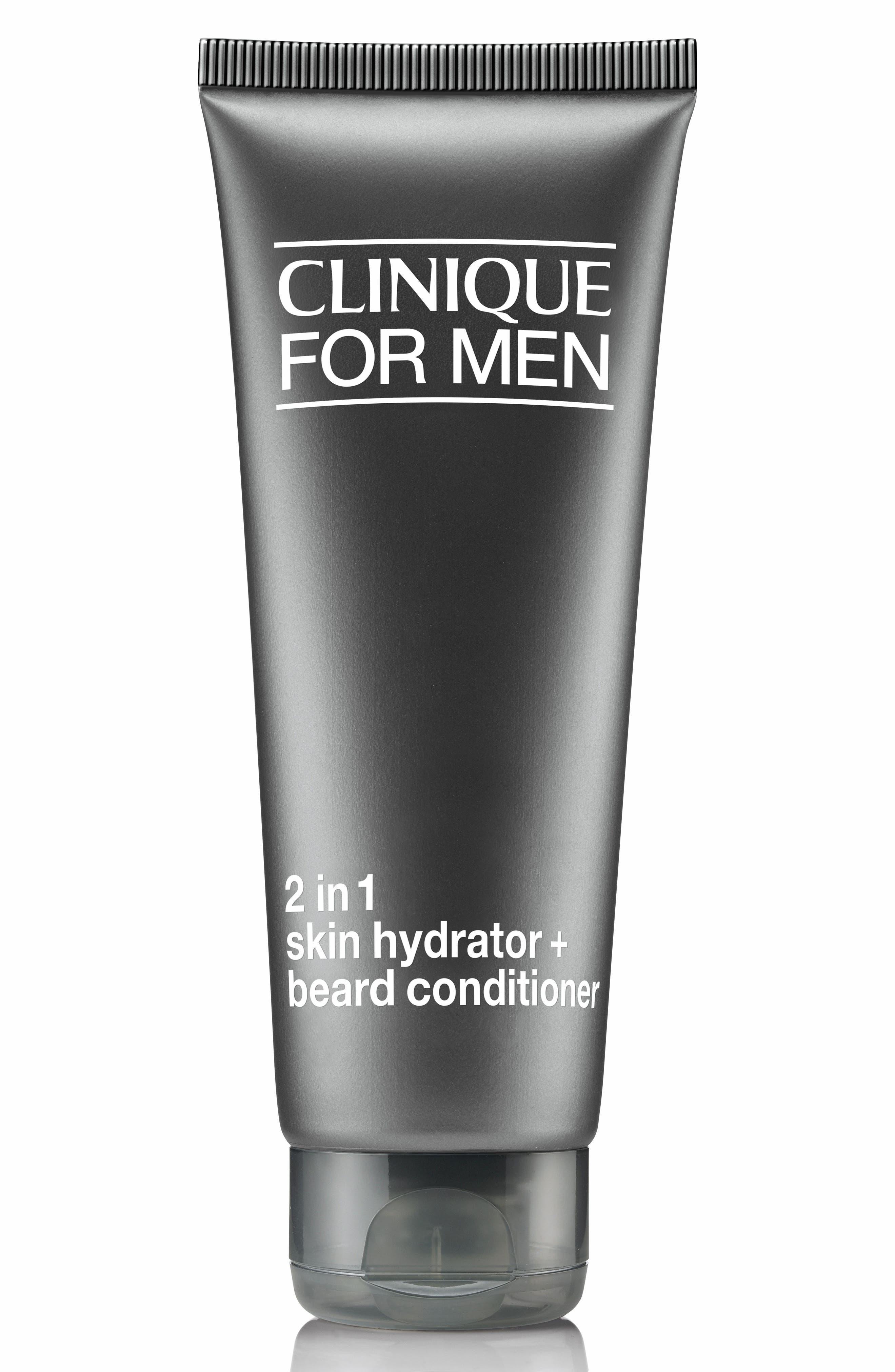 CLINIQUE for Men 2-in-1 Skin Hydrator + Beard Conditioner Lotion, Main, color, NO COLOR