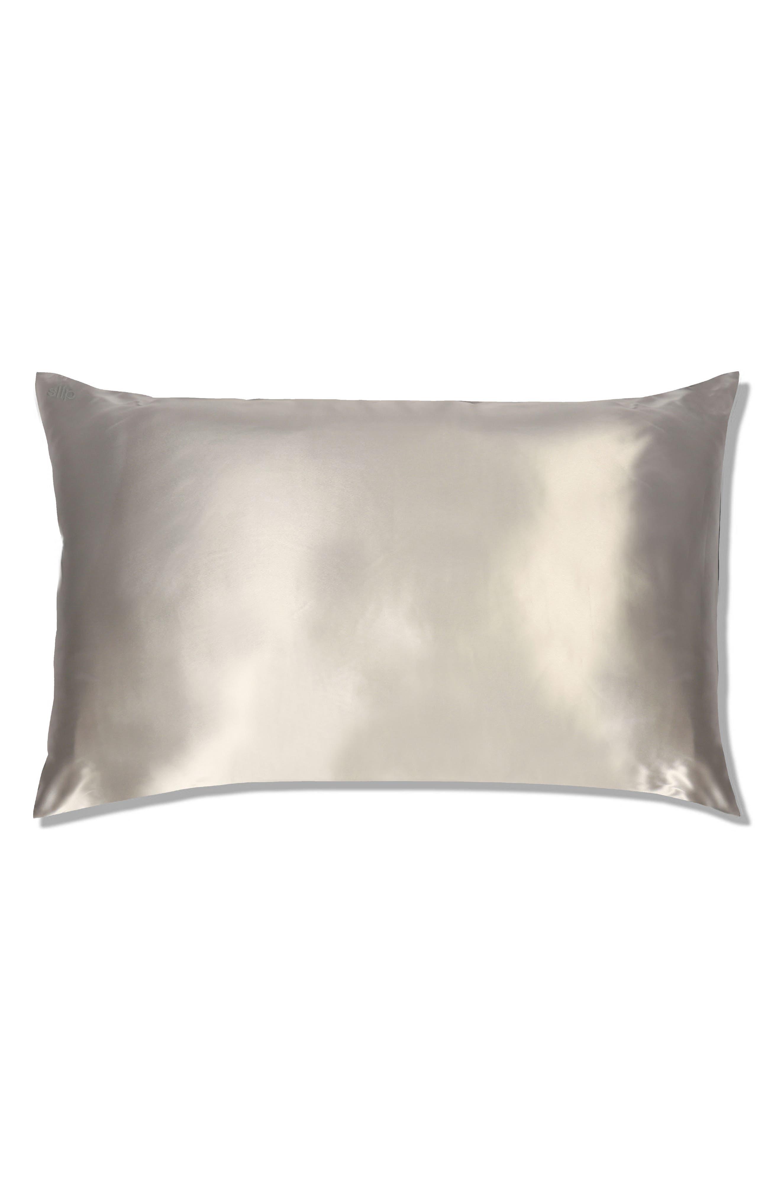 SLIP FOR BEAUTY SLEEP slip<sup>™</sup> for beauty sleep Slipsilk<sup>™</sup> Pure Silk Pillowcase, Main, color, SILVER