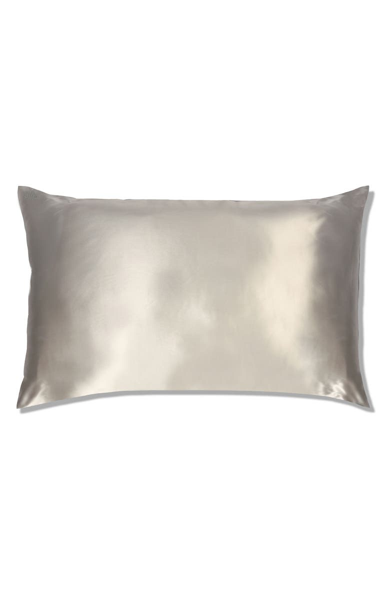 SLIP FOR BEAUTY SLEEP slip<sup>™</sup> for beauty sleep Slipsilk<sup>™</sup> Pure Silk Pillowcase, Main, color, SILVER