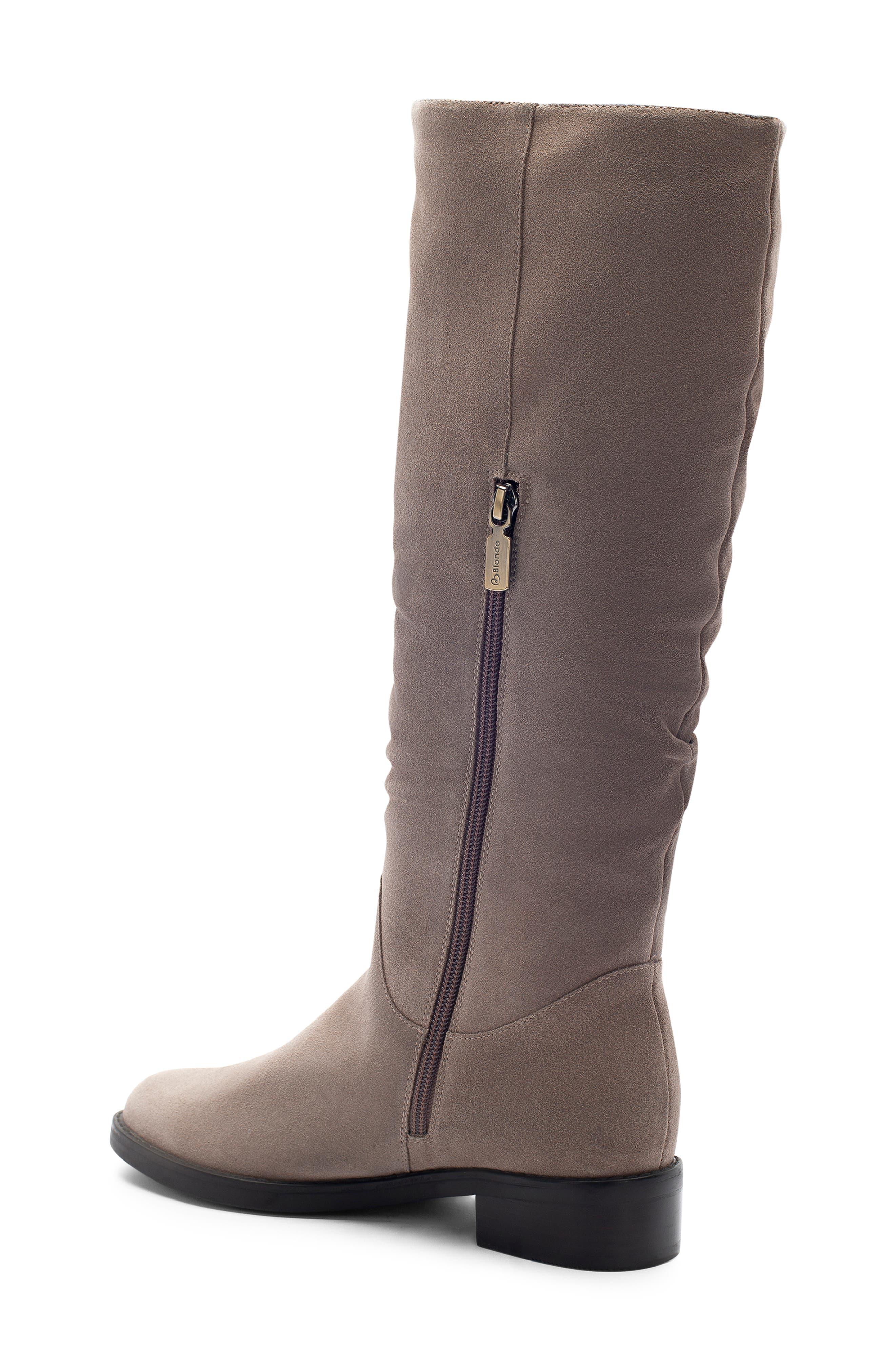 BLONDO, Erika Waterproof Knee High Boot, Alternate thumbnail 2, color, DARK TAUPE SUEDE