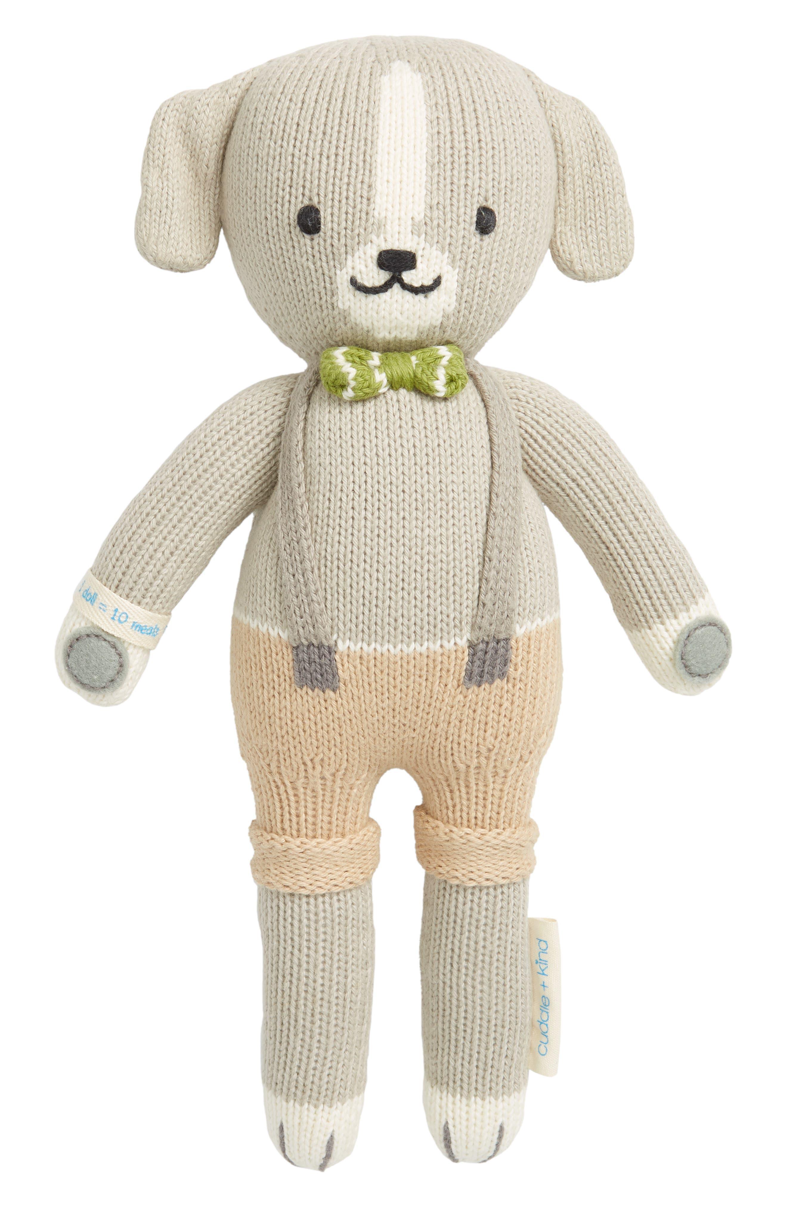 CUDDLE+KIND, cuddle + kind Noah the Dog Stuffed Animal, Main thumbnail 1, color, GREY