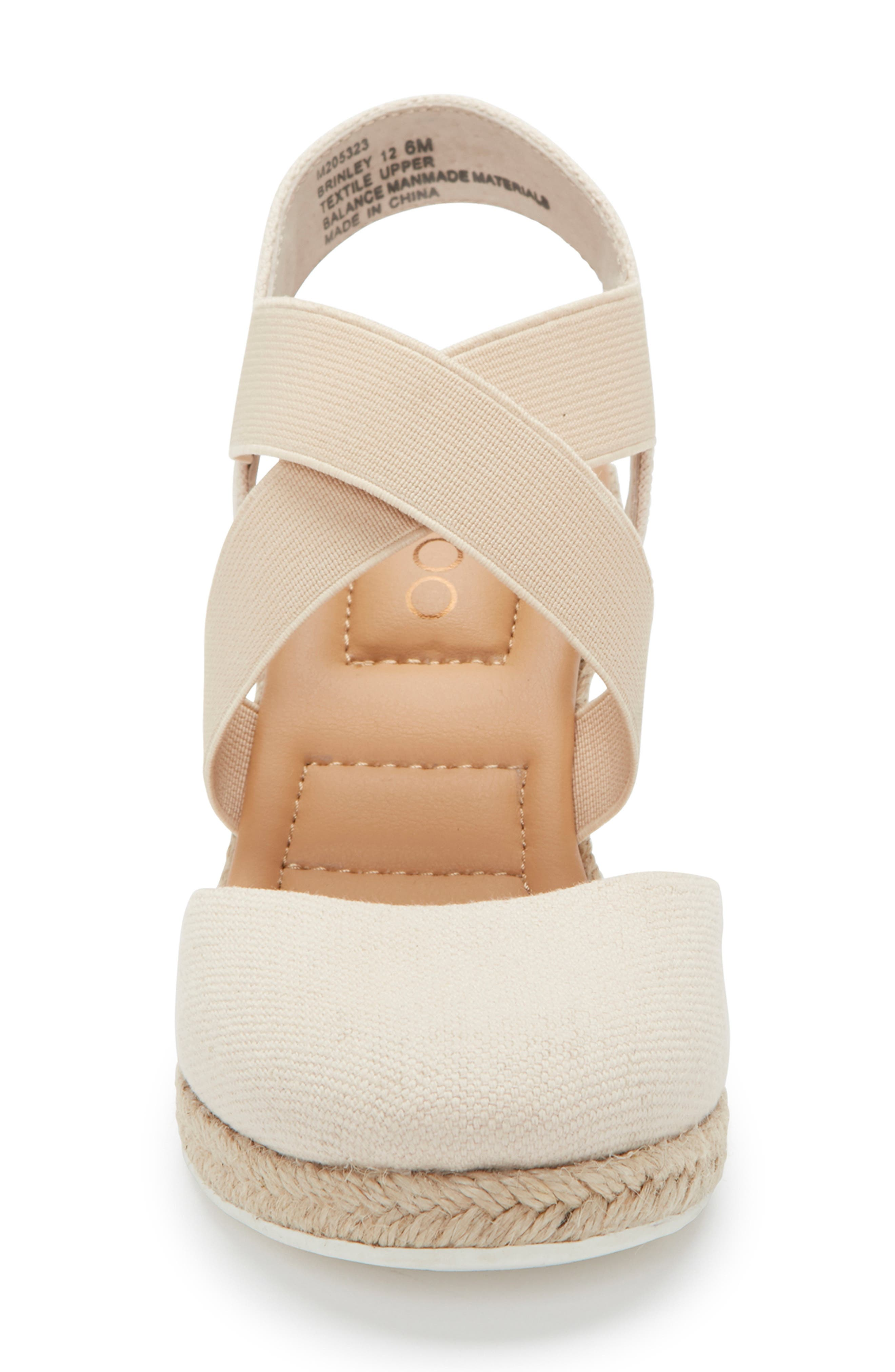 ME TOO, Brinley Espadrille Wedge, Alternate thumbnail 4, color, NATURAL CANVAS