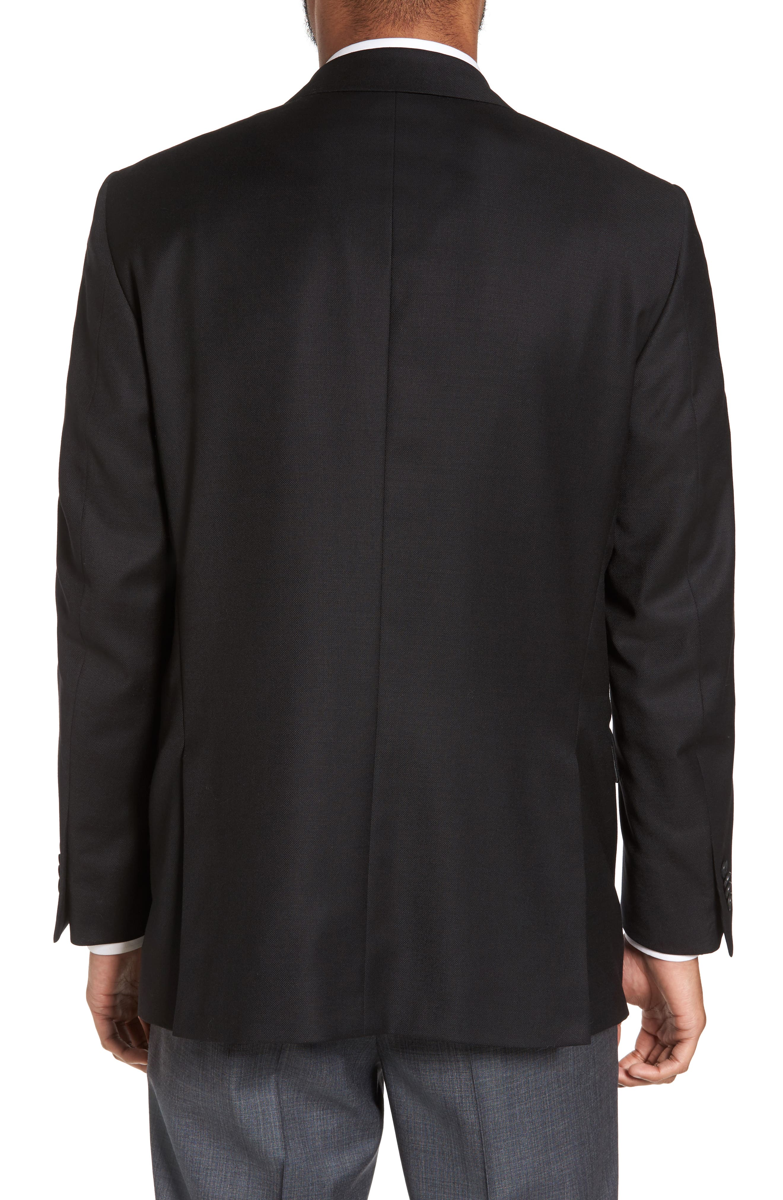 PETER MILLAR, Flynn Classic Fit Wool Blazer, Alternate thumbnail 2, color, BLACK