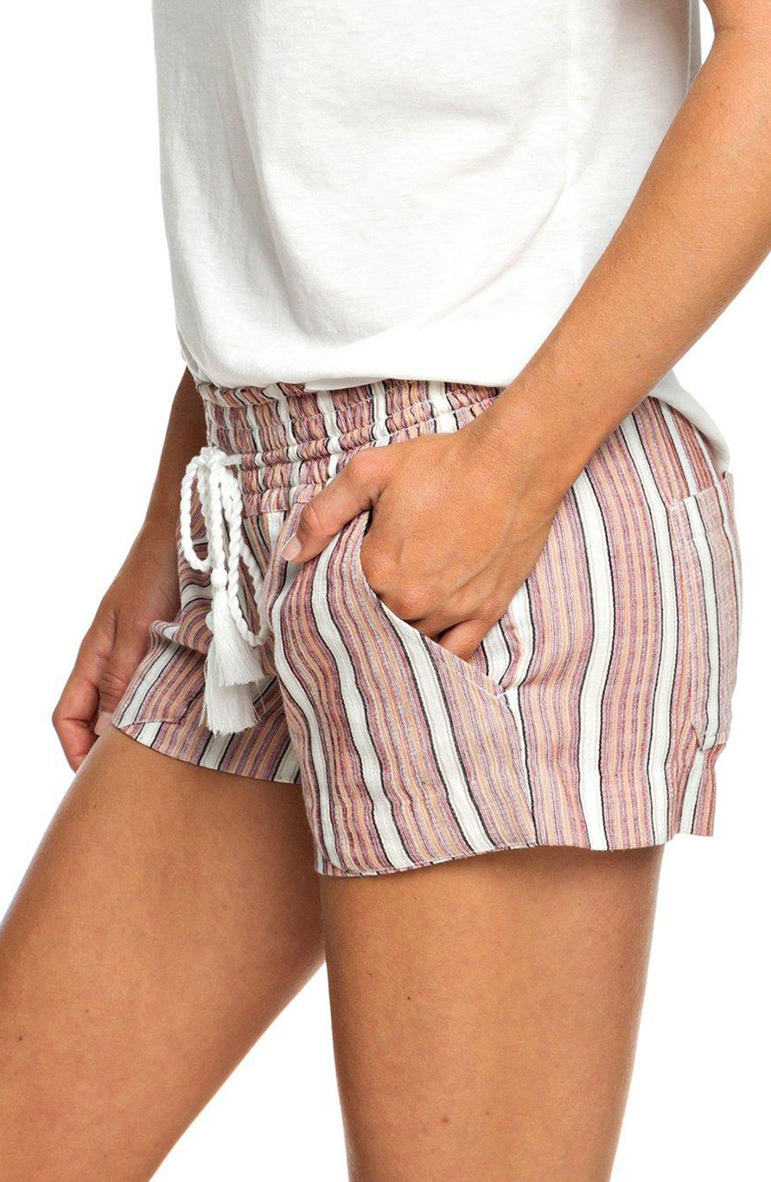ROXY, Oceanside Stripe Shorts, Alternate thumbnail 2, color, 950