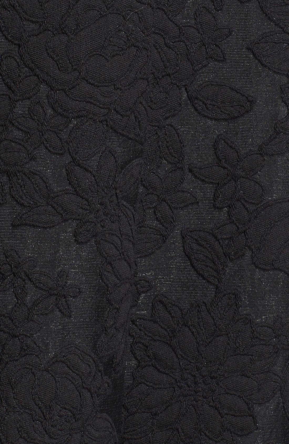 MICHAEL KORS, Floral Embroidered Pleated Midi Skirt, Alternate thumbnail 2, color, 001
