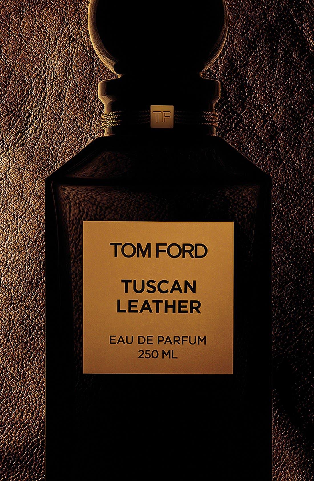 TOM FORD, Private Blend Tuscan Leather Eau de Parfum Decanter, Alternate thumbnail 2, color, NO COLOR
