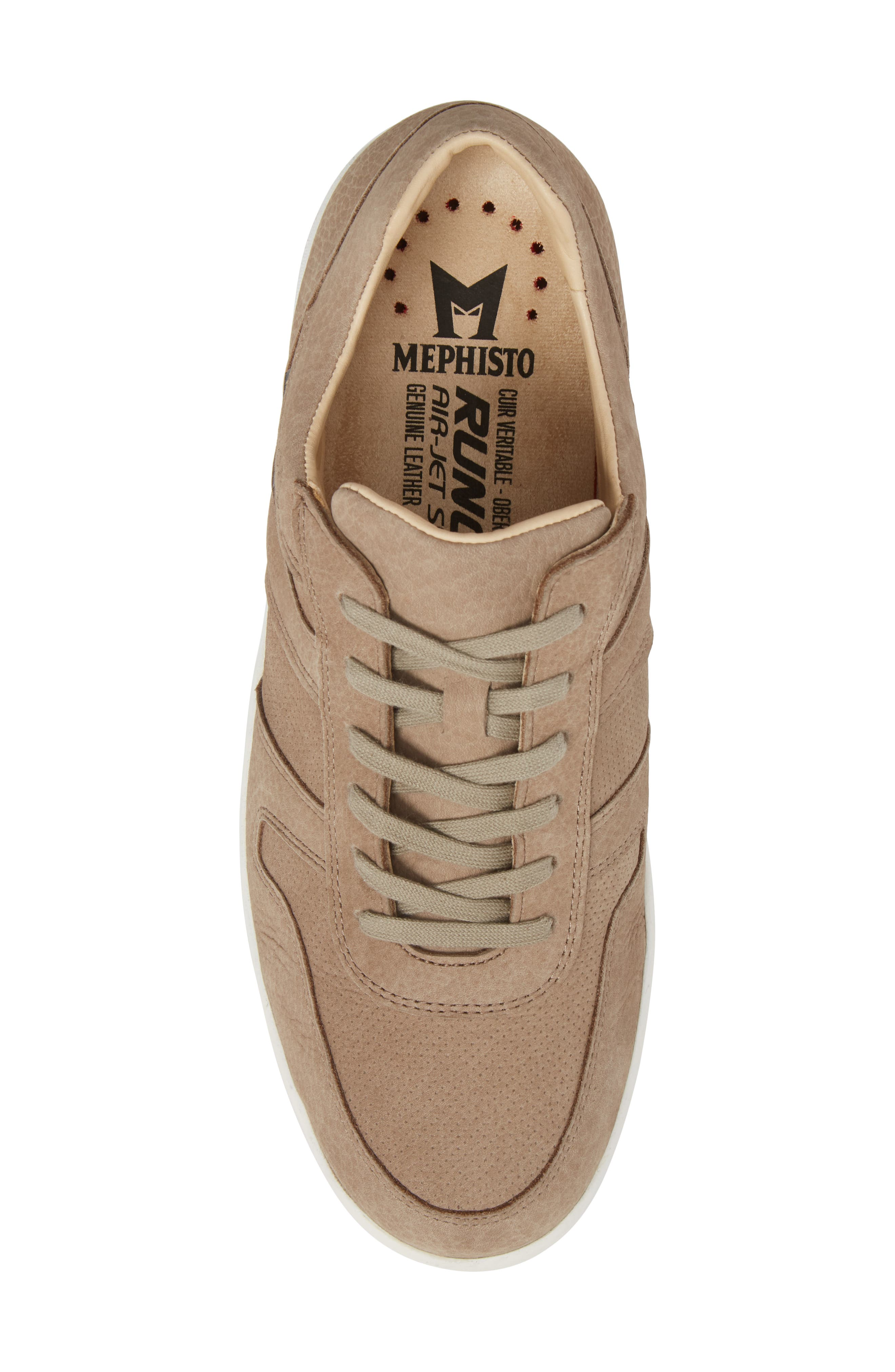 MEPHISTO, Vito Perforated Sneaker, Alternate thumbnail 5, color, SAND