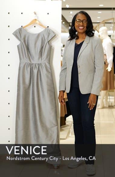 Cap Sleeve Dupioni Full Length Dress, sales video thumbnail