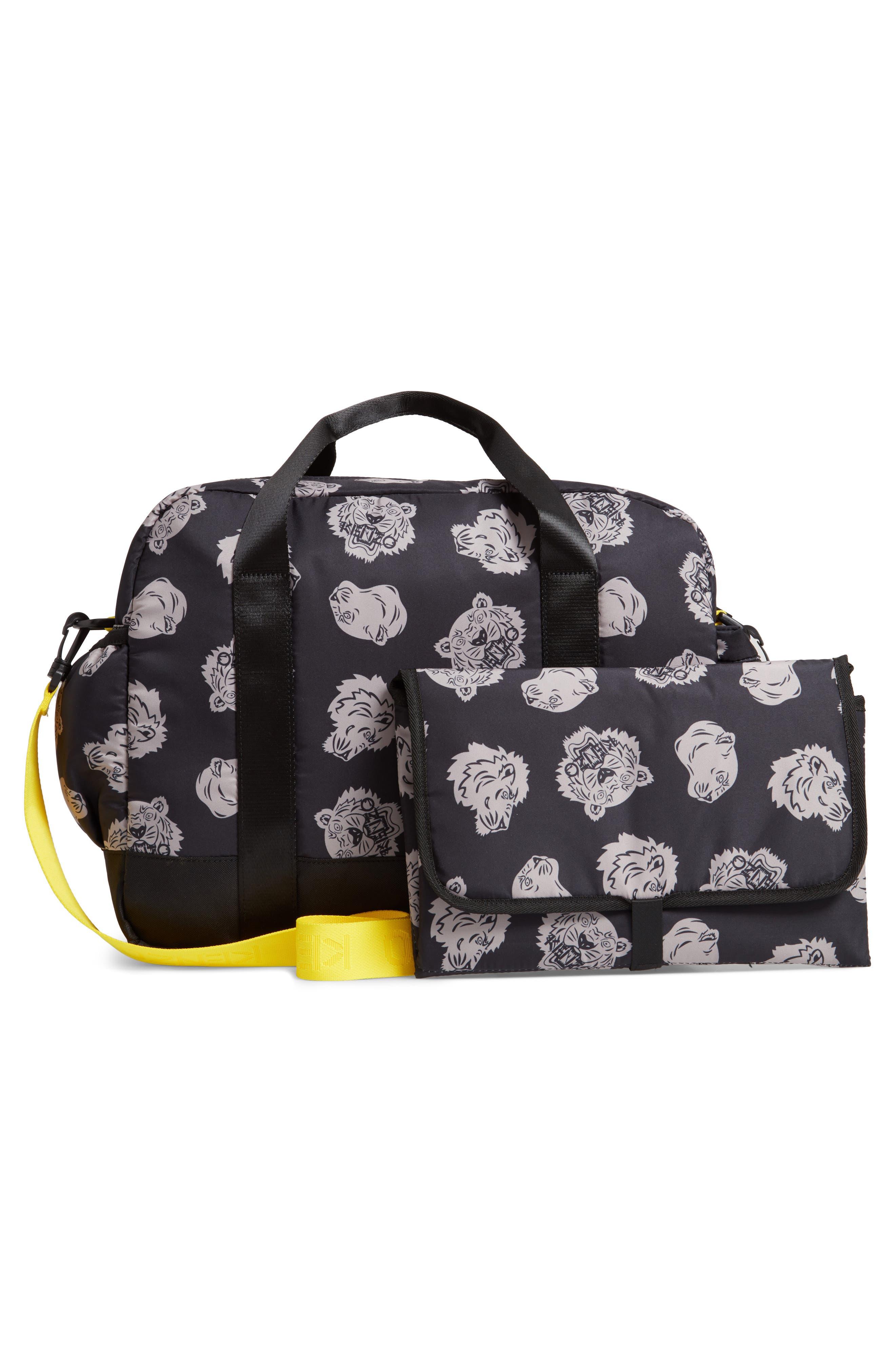 KENZO, Diaper Bag, Alternate thumbnail 3, color, 020