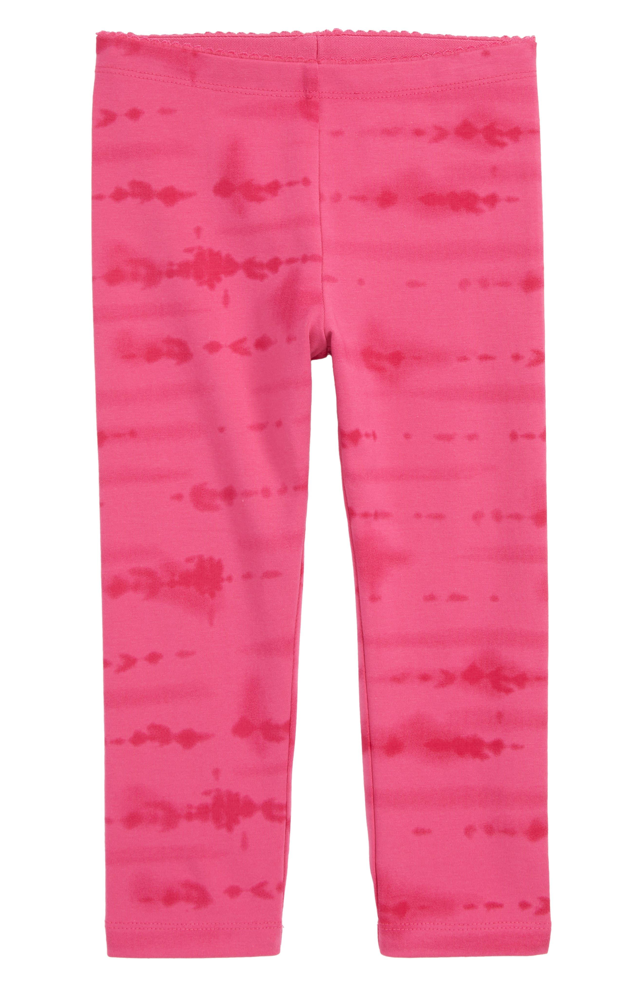 Girls Tea Collection Tie Dye Capri Leggings Size 8  Pink
