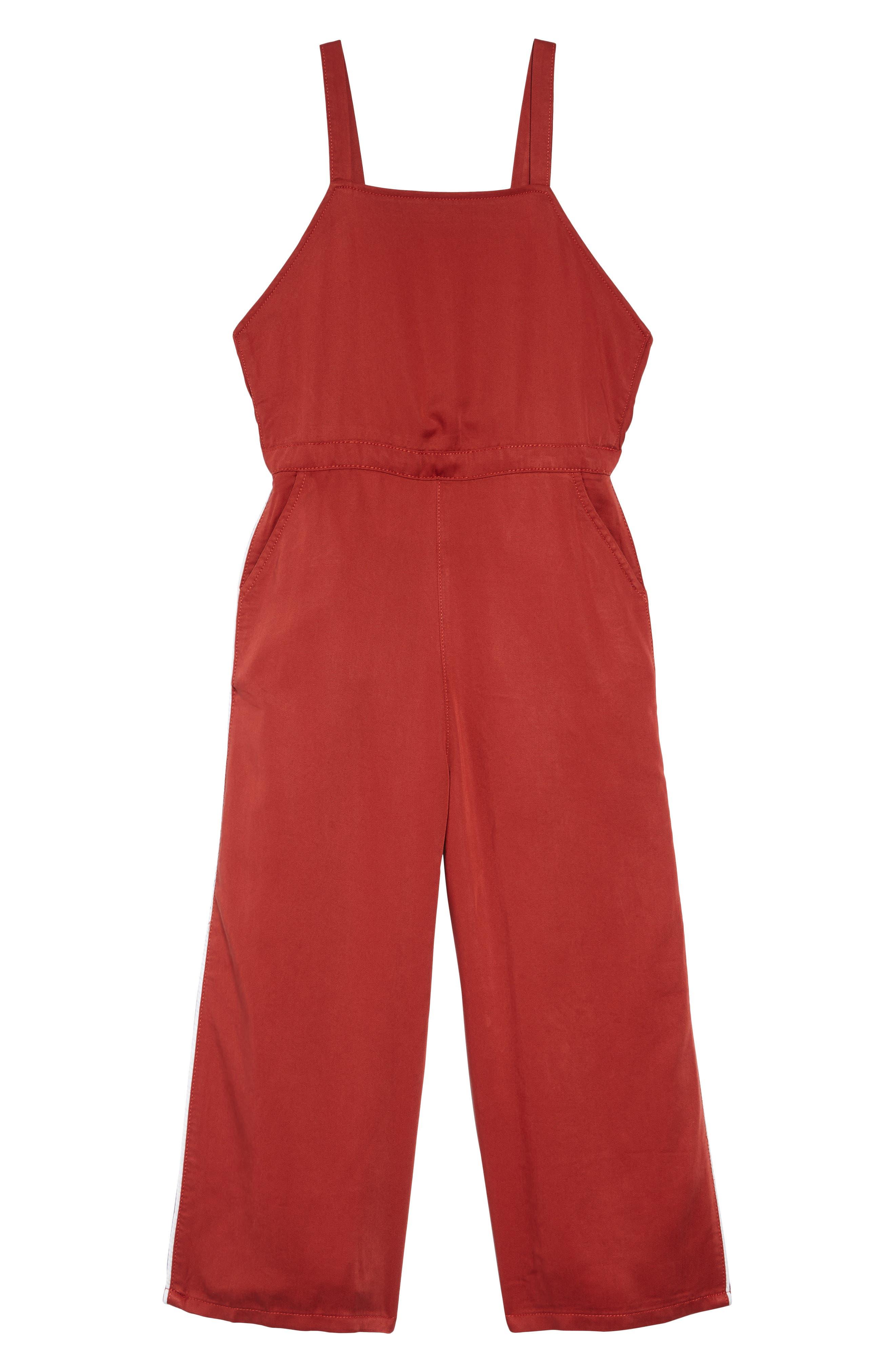 TREASURE & BOND Sporty Jumpsuit, Main, color, RED OCHRE