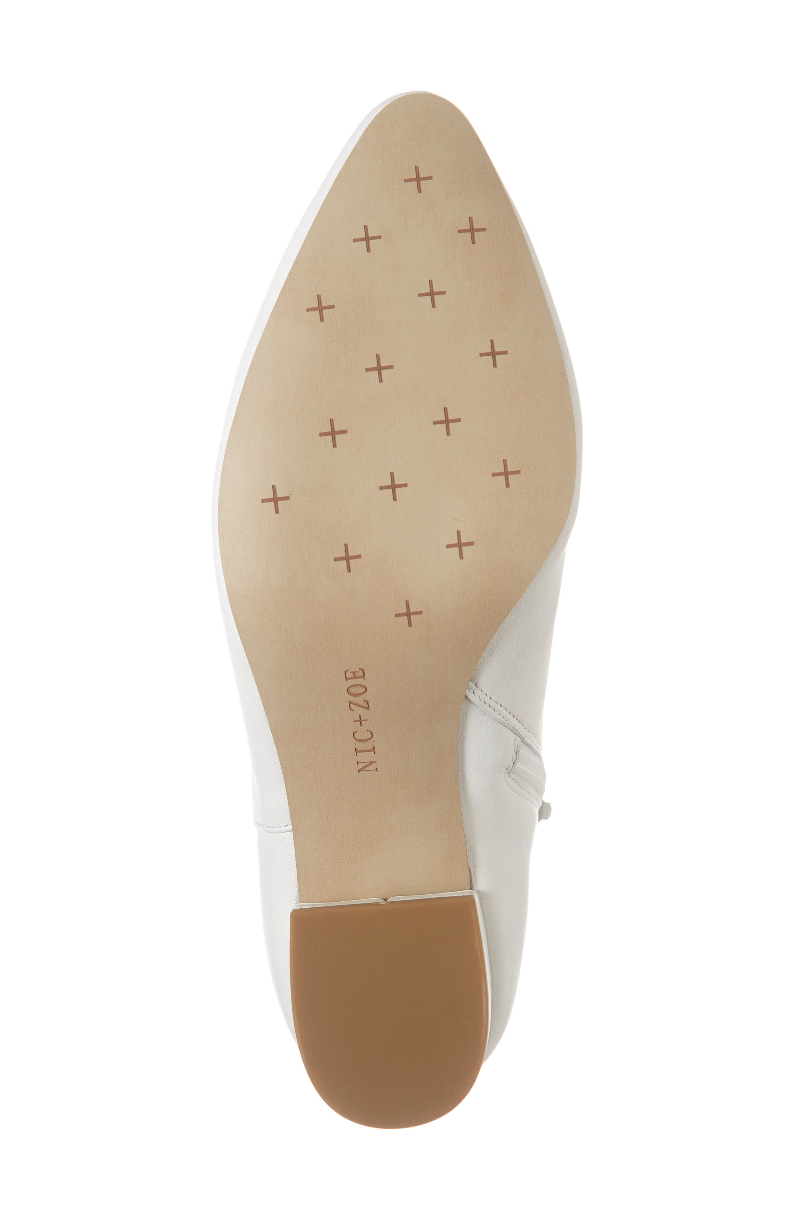 NIC+ZOE, Amorie Bootie, Alternate thumbnail 6, color, WHITE LEATHER