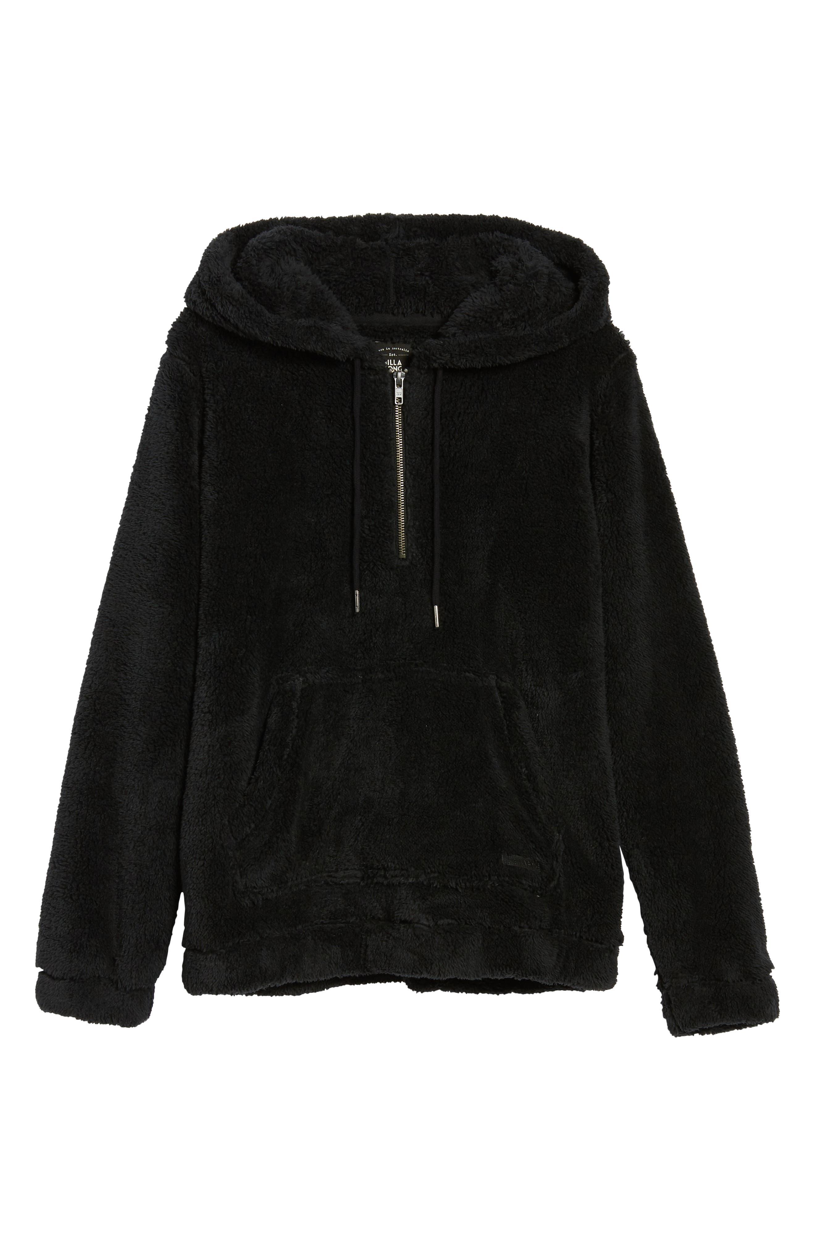 BILLABONG, Cozy For Keeps Fleece Pullover, Alternate thumbnail 7, color, 001