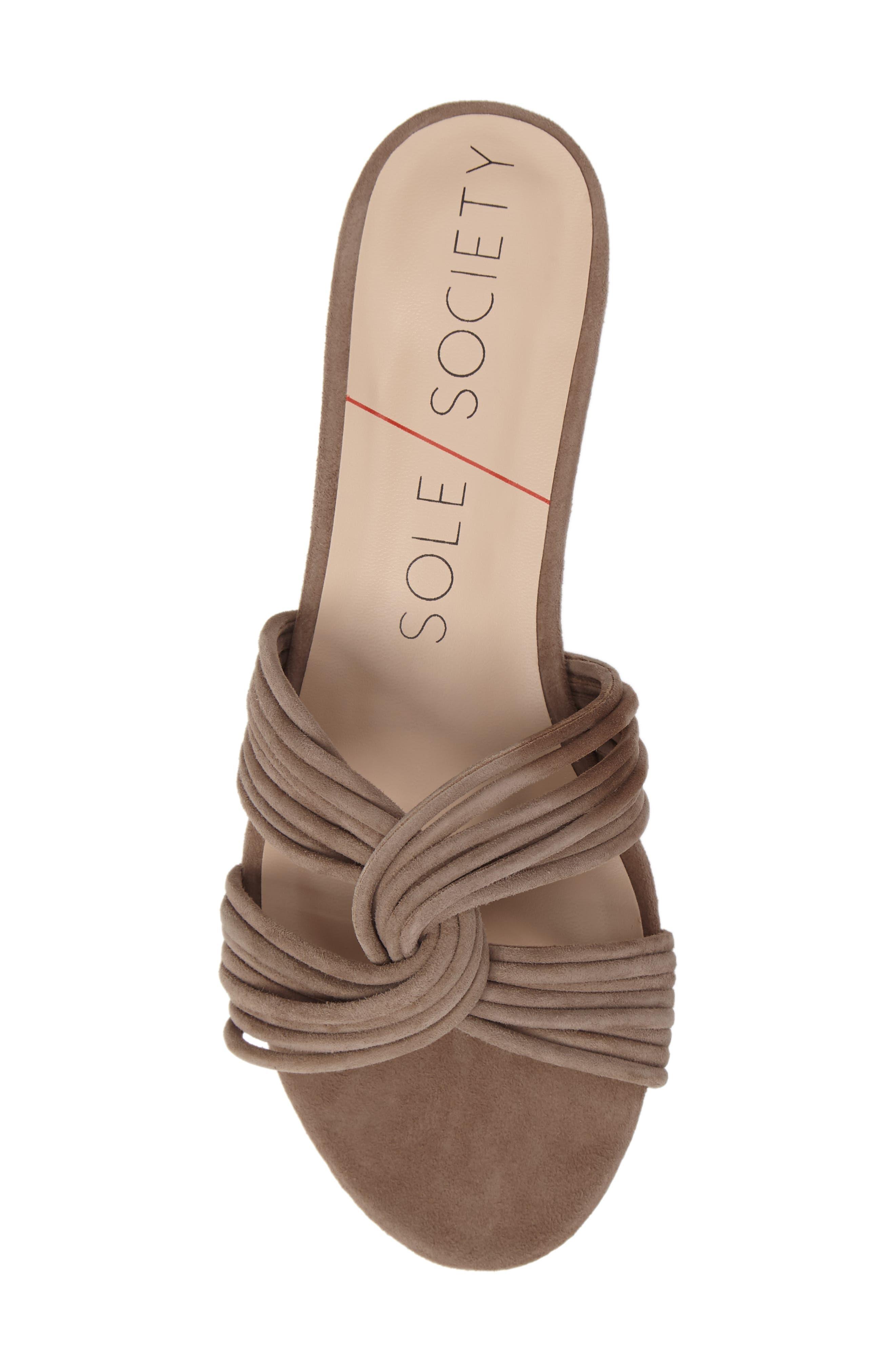 SOLE SOCIETY, Dahlia Flat Sandal, Alternate thumbnail 5, color, 240