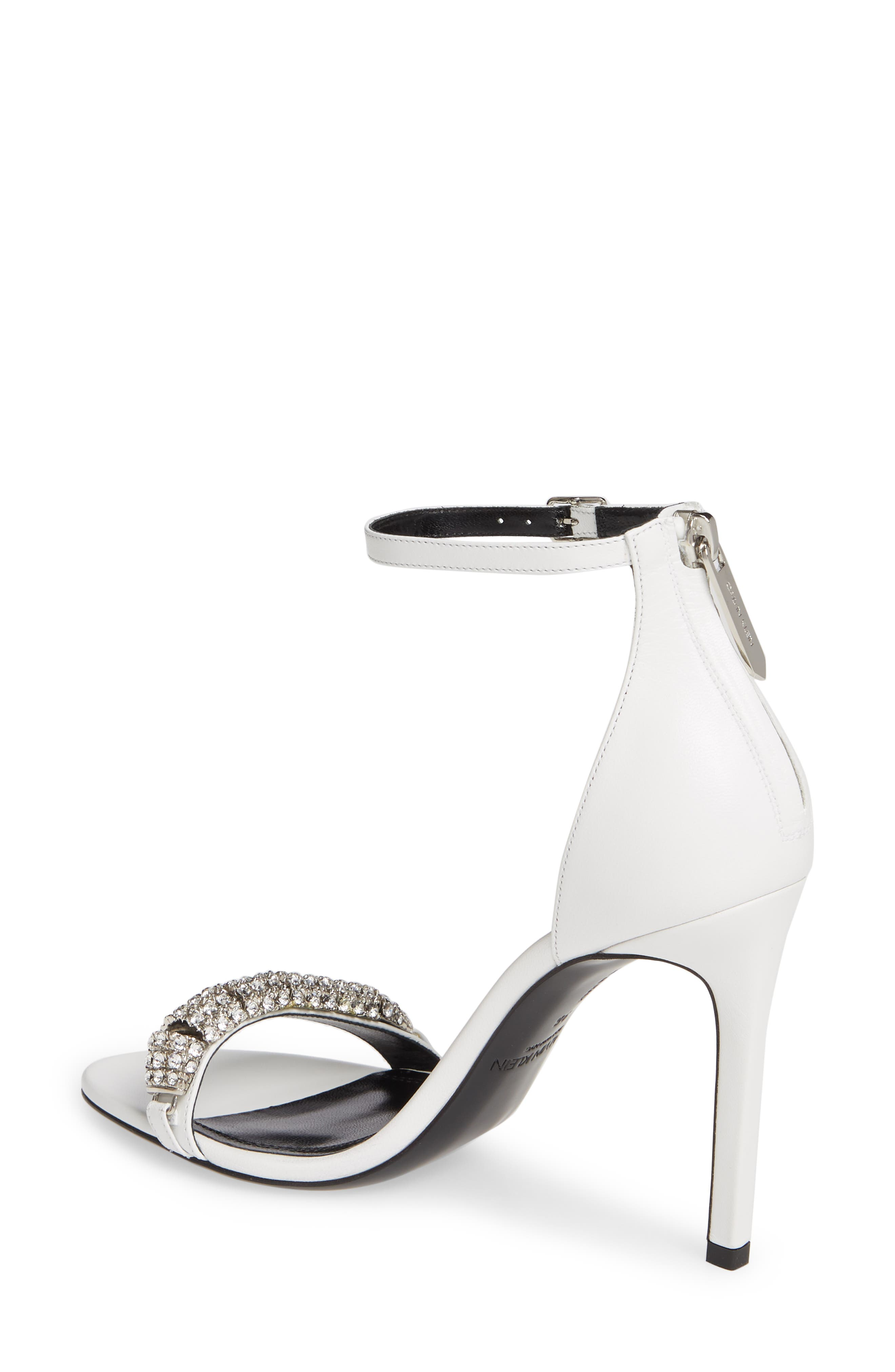 CALVIN KLEIN 205W39NYC, Camelle Sandal, Alternate thumbnail 2, color, WHITE